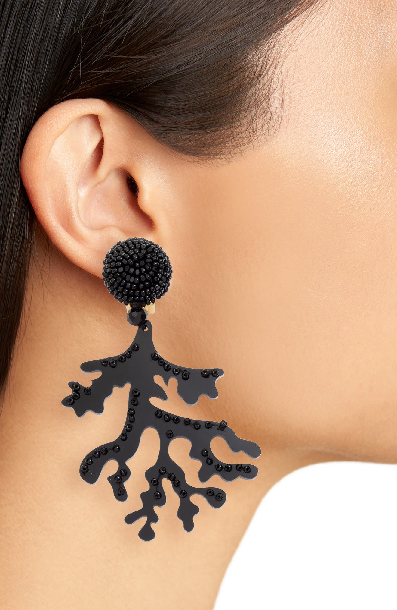 Coral Branch Drop Earrings,                             Alternate thumbnail 2, color,                             001