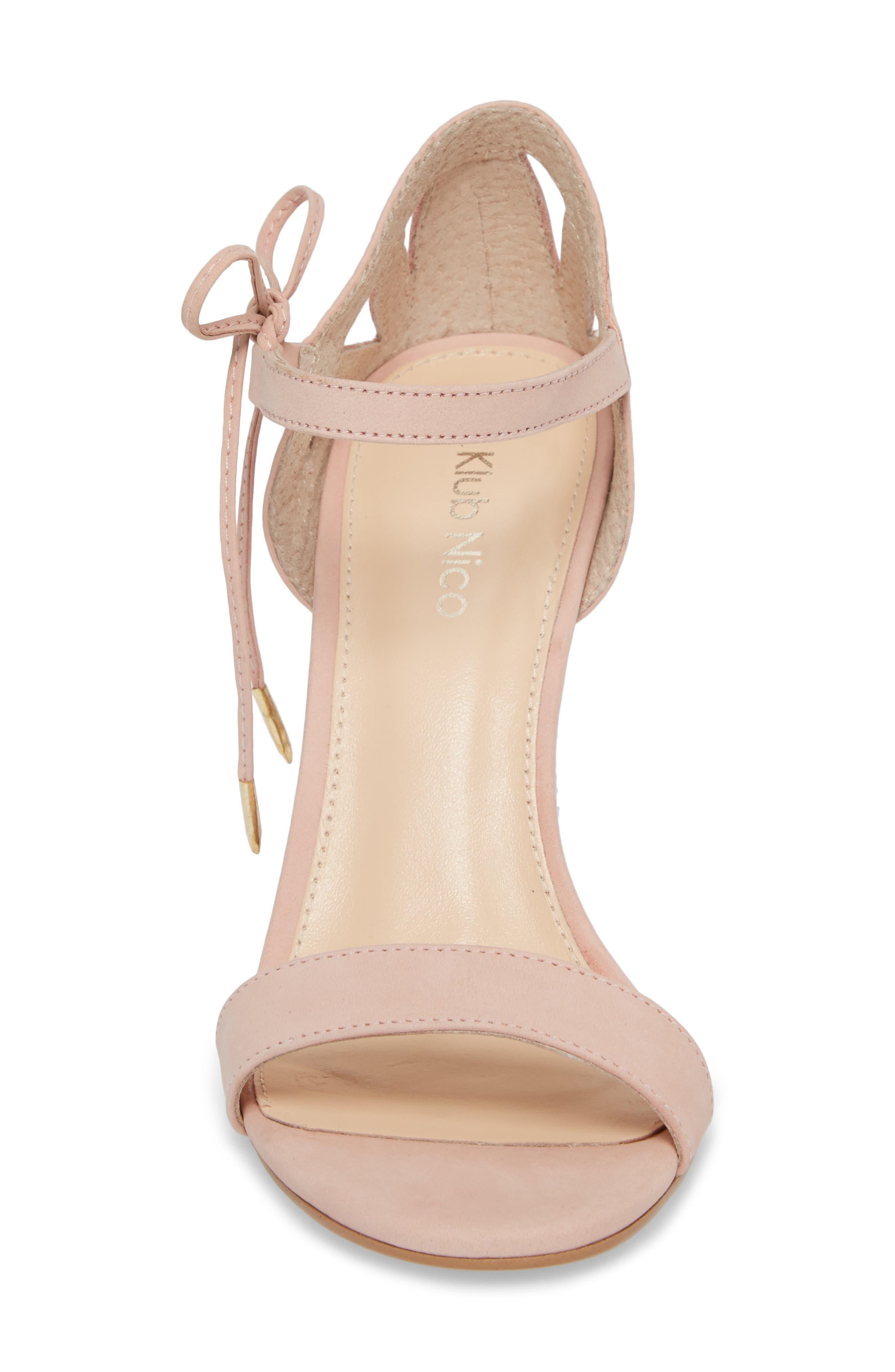 Adelyn Bow Tie Sandal,                             Alternate thumbnail 4, color,                             QUARTZ LEATHER