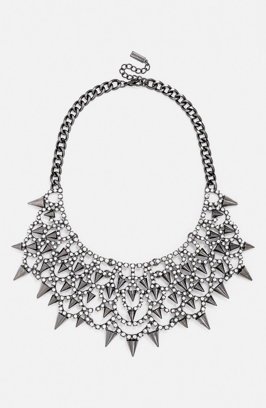 'Gothic Fang' Bib Necklace,                             Main thumbnail 1, color,                             002