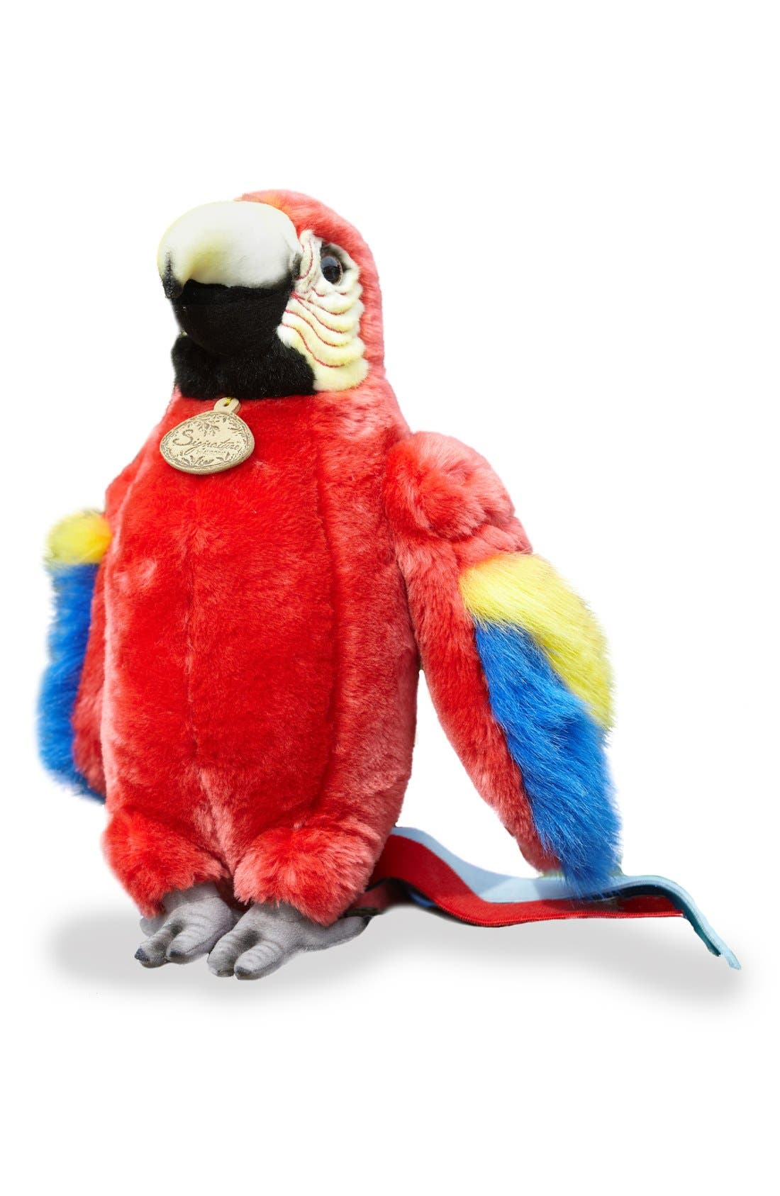 'Scarlet Macaw' Stuffed Animal,                             Main thumbnail 1, color,                             RED