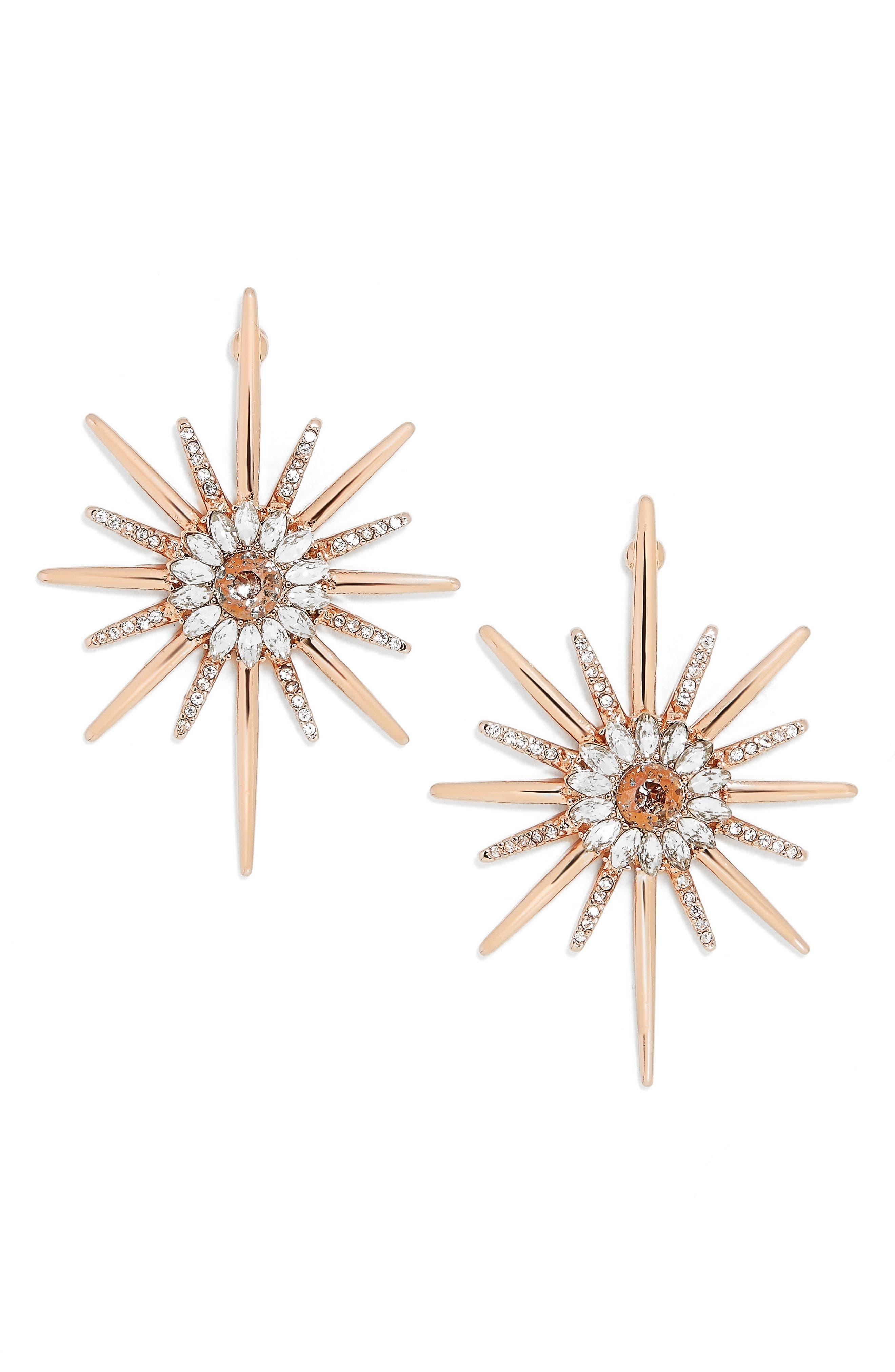 Crystal Earrings,                             Main thumbnail 1, color,                             710