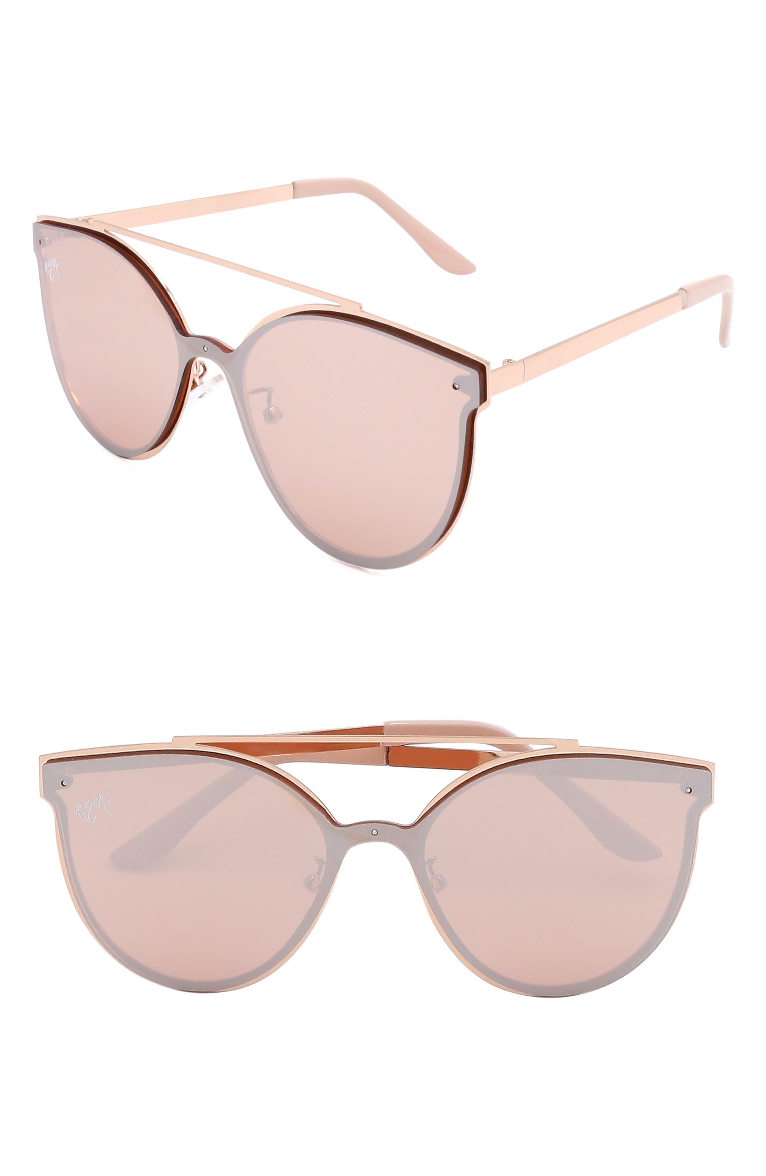 Nem Matisse 55Mm Cat Eye Sunglasses - Brown W Gold Tinted Lens