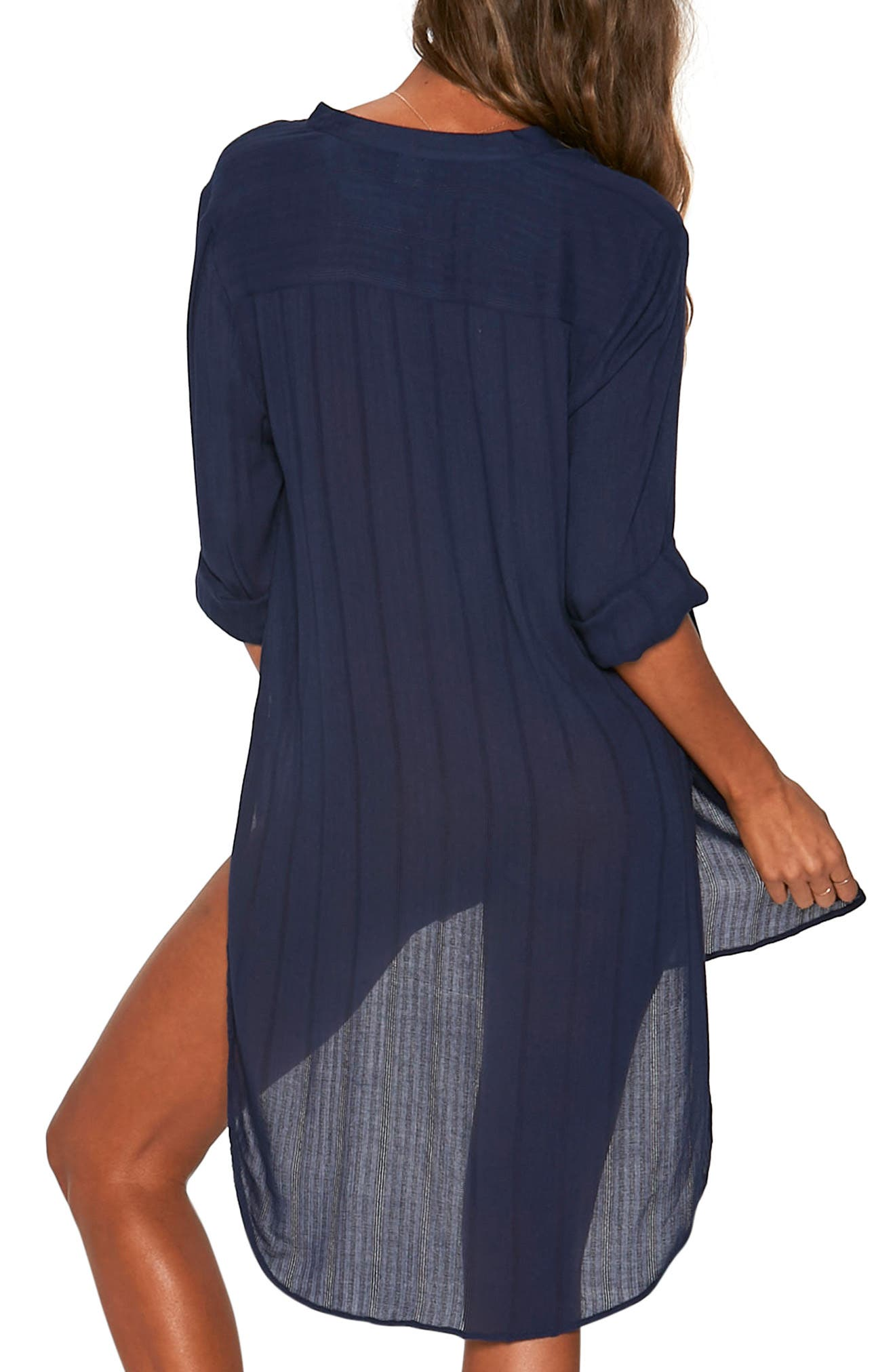 Megan Cover-Up Tunic,                             Alternate thumbnail 2, color,                             MIDNIGHT BLUE