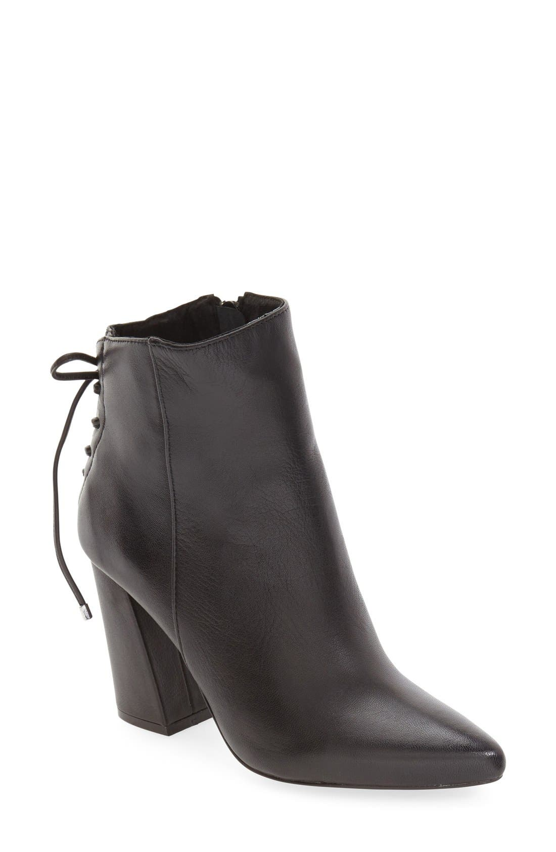 'Siren' Pointy Toe Bootie,                             Main thumbnail 1, color,                             001