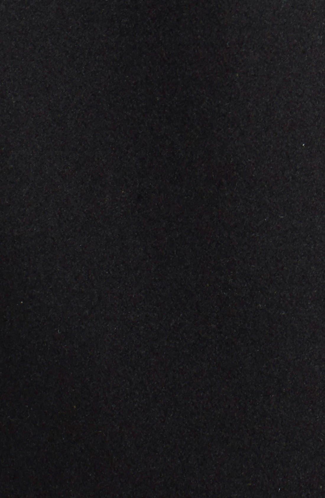 Melton Car Coat with Removable Bib,                             Alternate thumbnail 9, color,                             BLACK