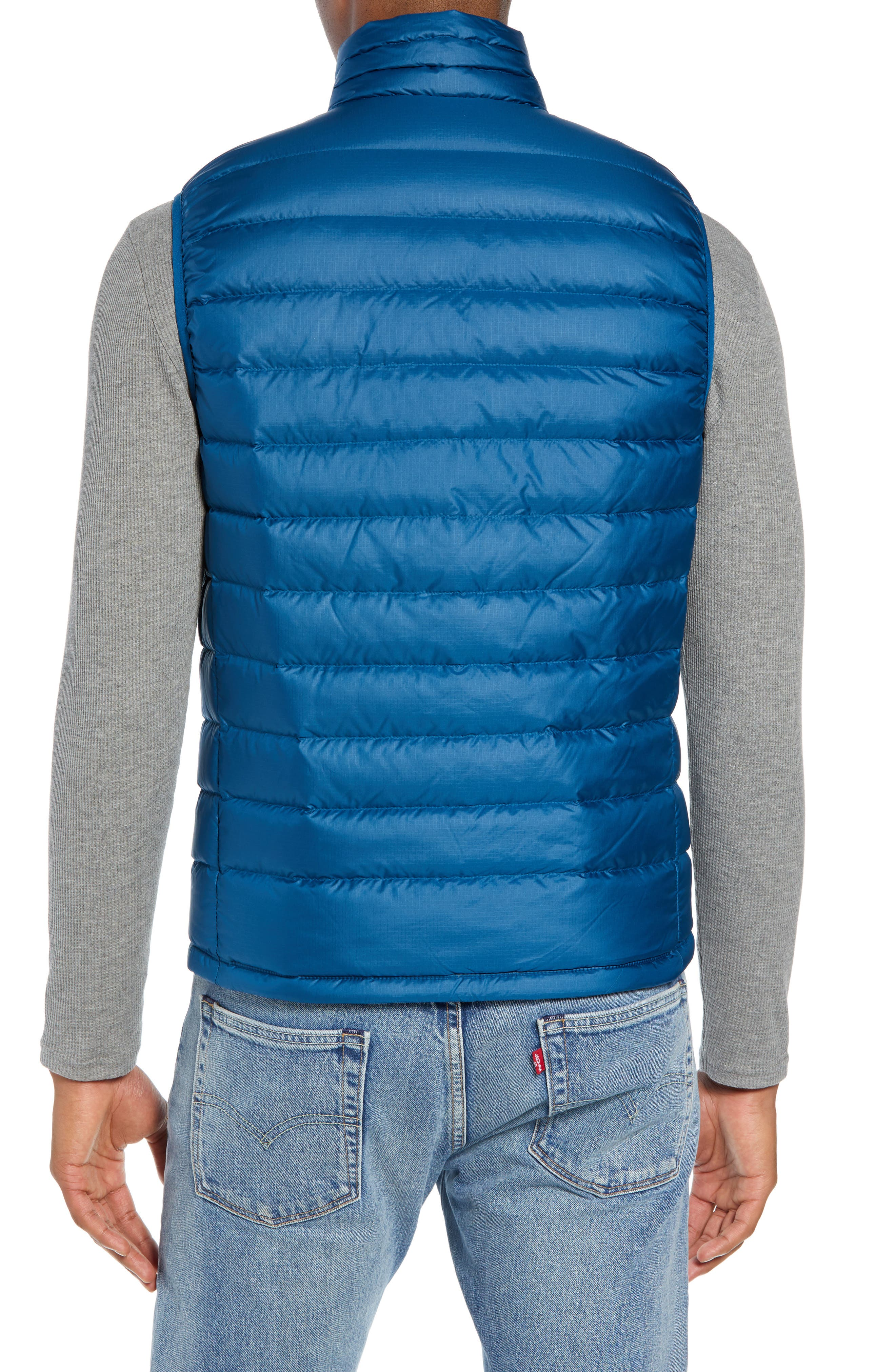 Windproof & Water Resistant 800 Fill Power Down Quilted Vest,                             Alternate thumbnail 12, color,