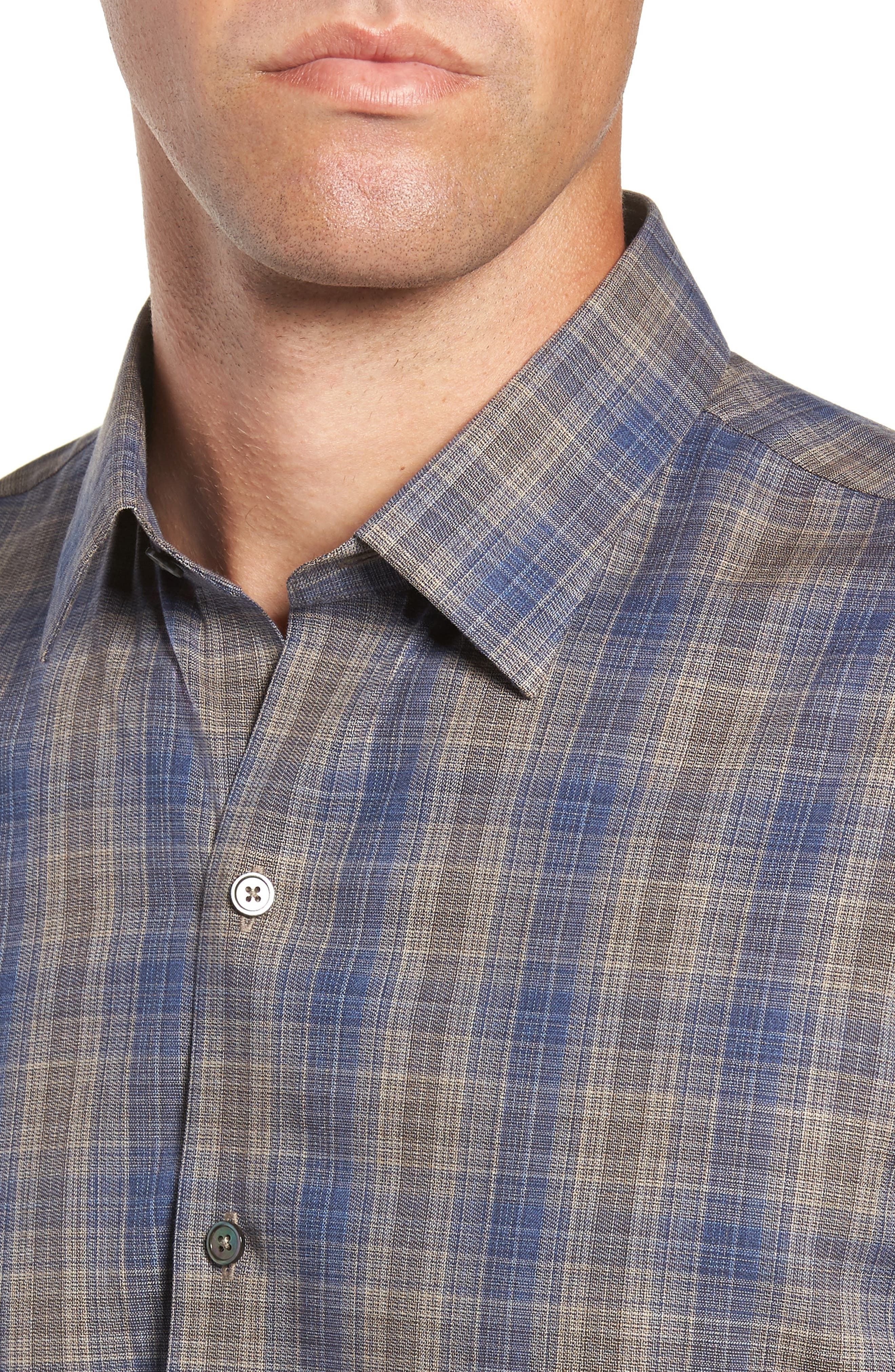 Compton Regular Fit Check Sport Shirt,                             Alternate thumbnail 2, color,                             SAND