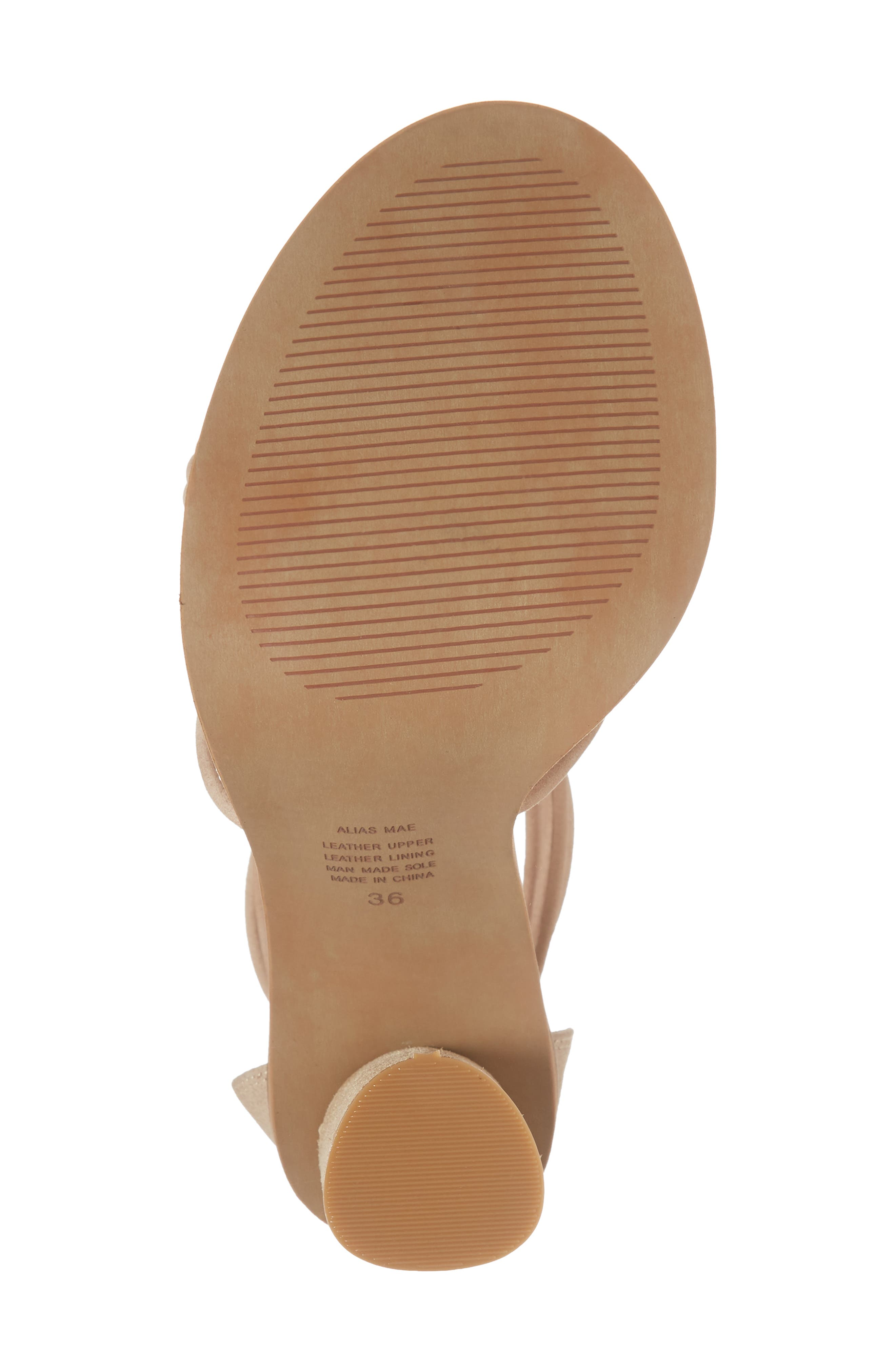 Aflux Tall Strappy Sandal,                             Alternate thumbnail 6, color,                             NATURAL LEATHER