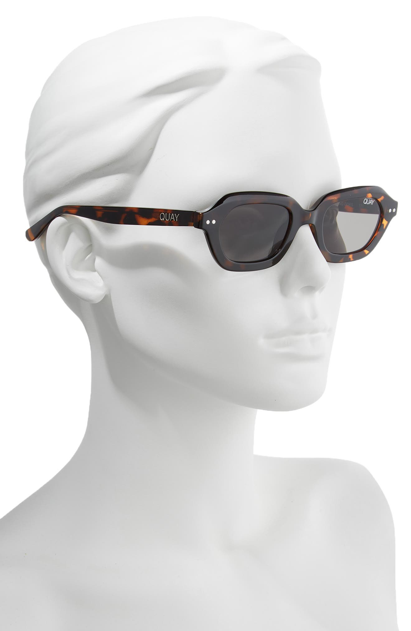 x Finders Keepers Anything Goes 49mm Square Sunglasses,                             Alternate thumbnail 2, color,                             TORTOISE/ SMOKE