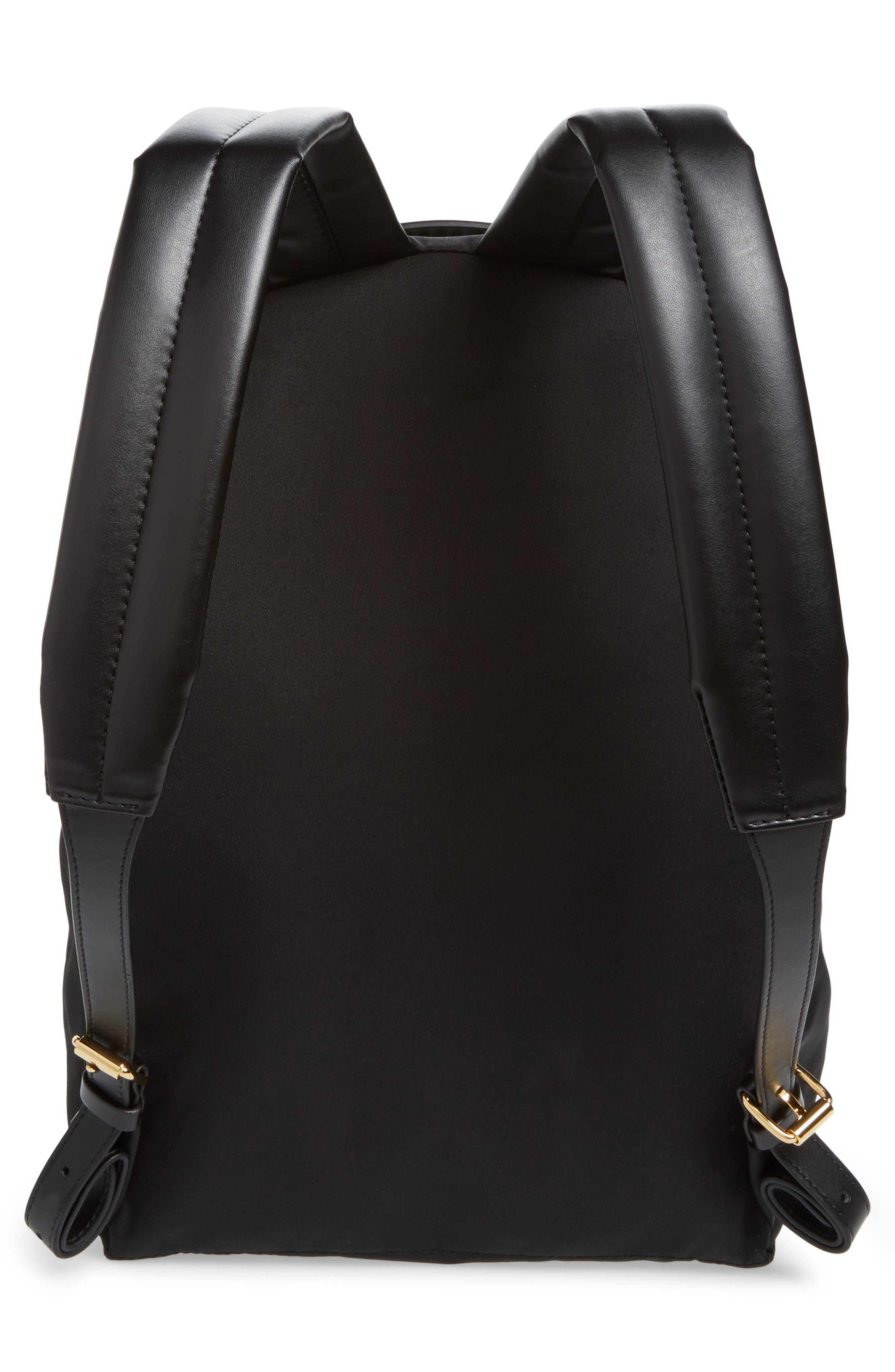 Falabella Nylon Backpack,                             Alternate thumbnail 3, color,                             BLACK