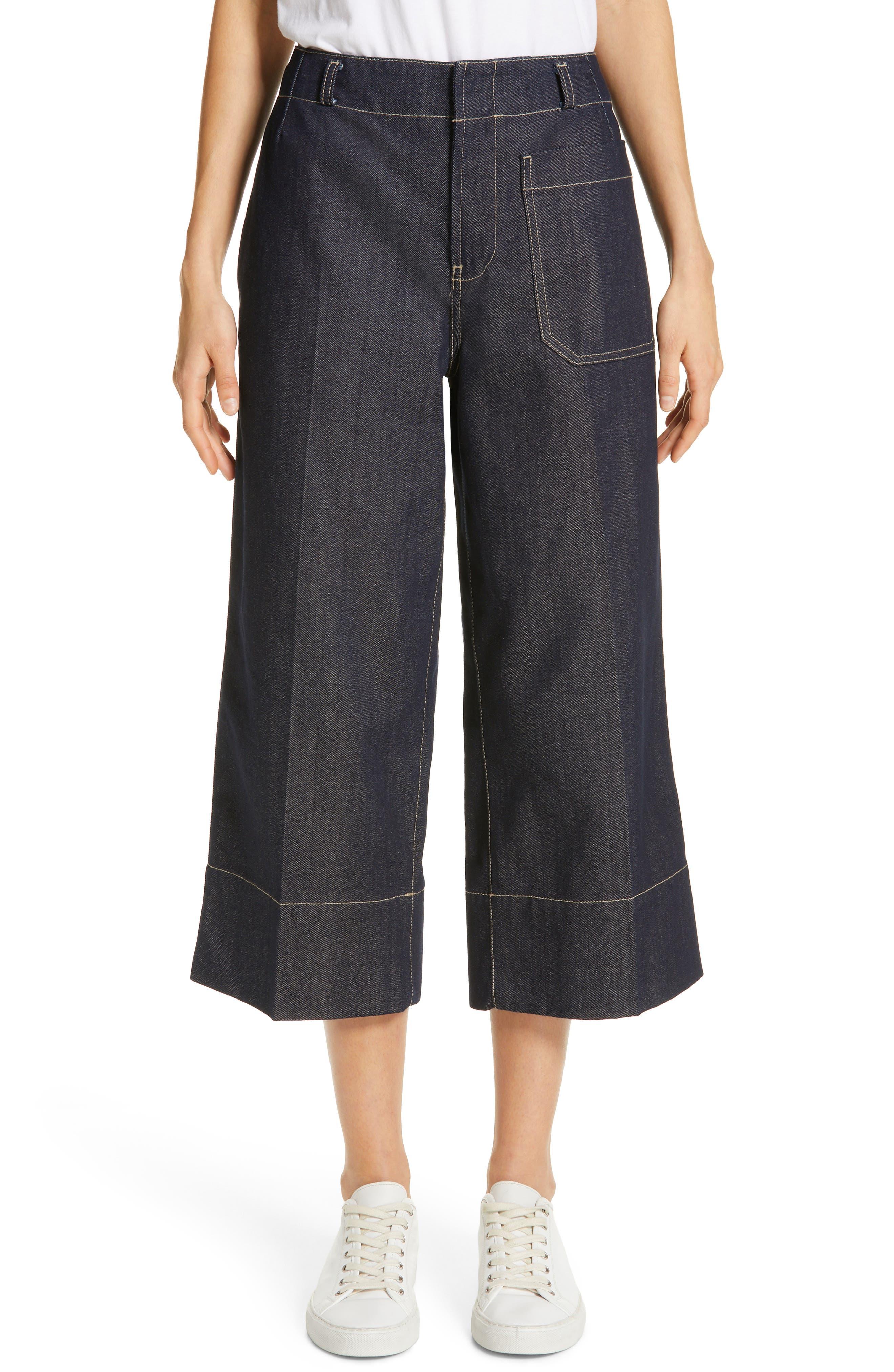 SOFIE D'HOORE Wide Leg Crop Jeans, Main, color, RAW