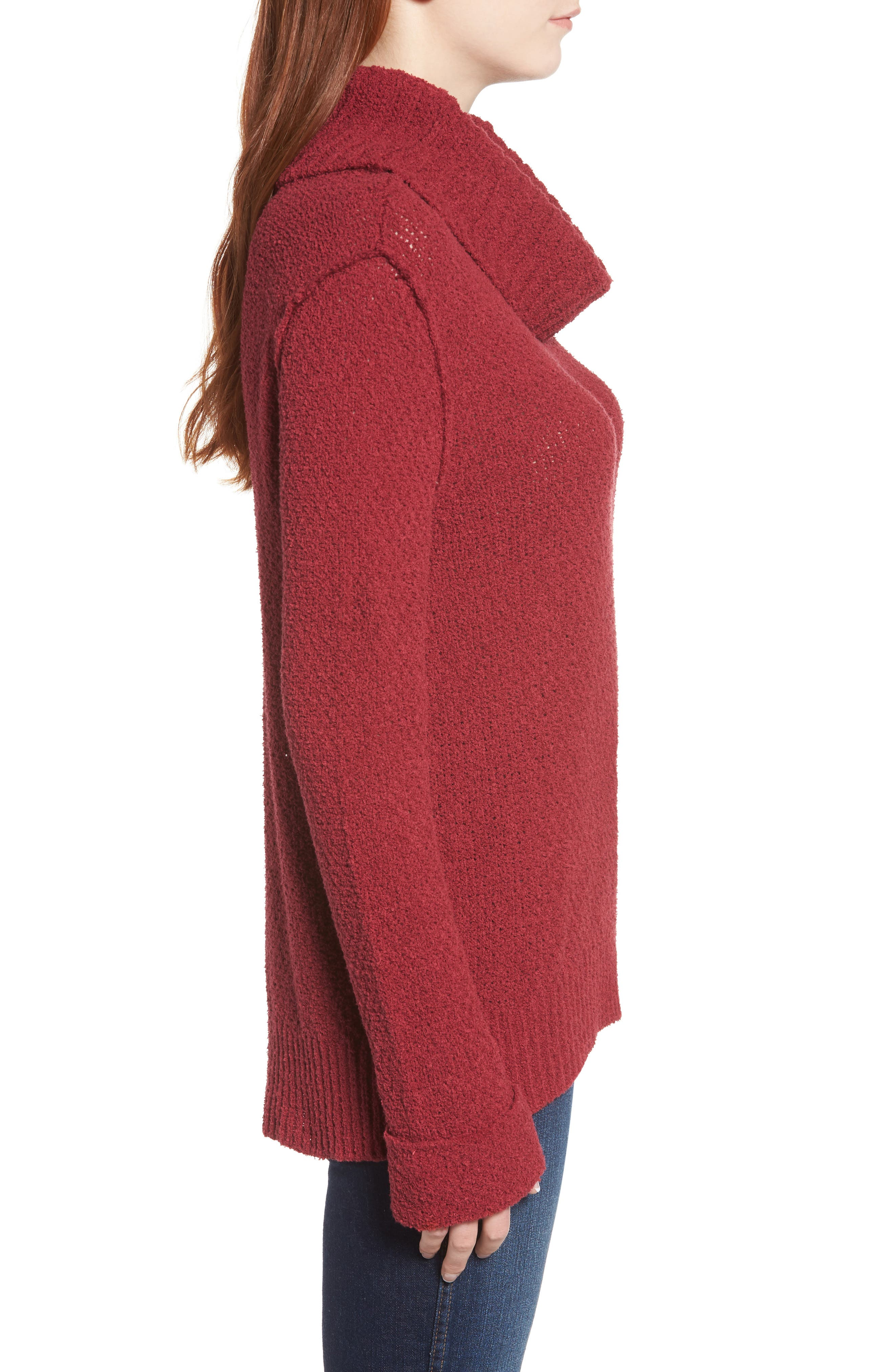 CASLON<SUP>®</SUP>,                             Cuff Sleeve Sweater,                             Alternate thumbnail 3, color,                             601