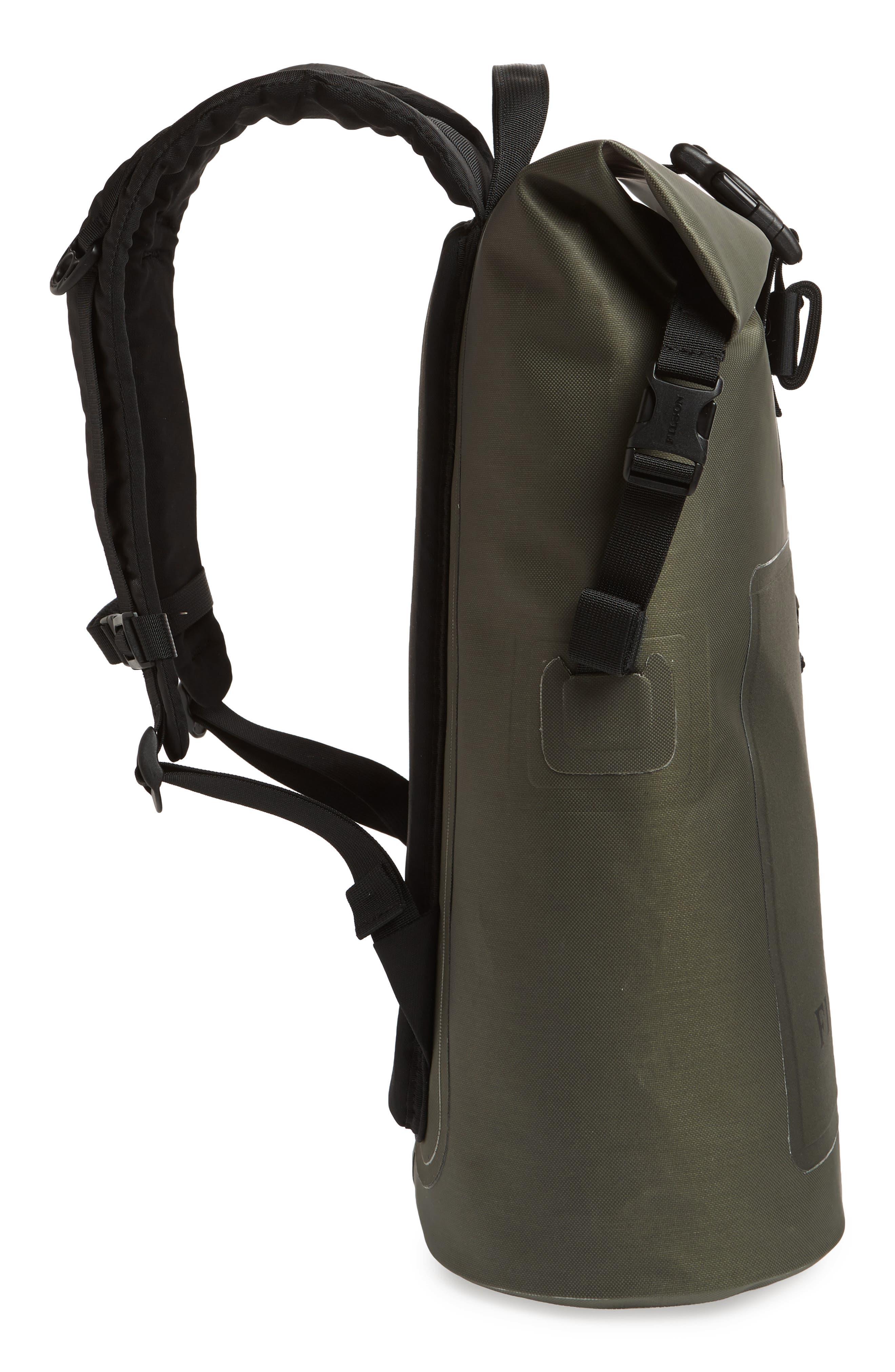 Dry Waterproof Backpack,                             Alternate thumbnail 5, color,                             GREEN