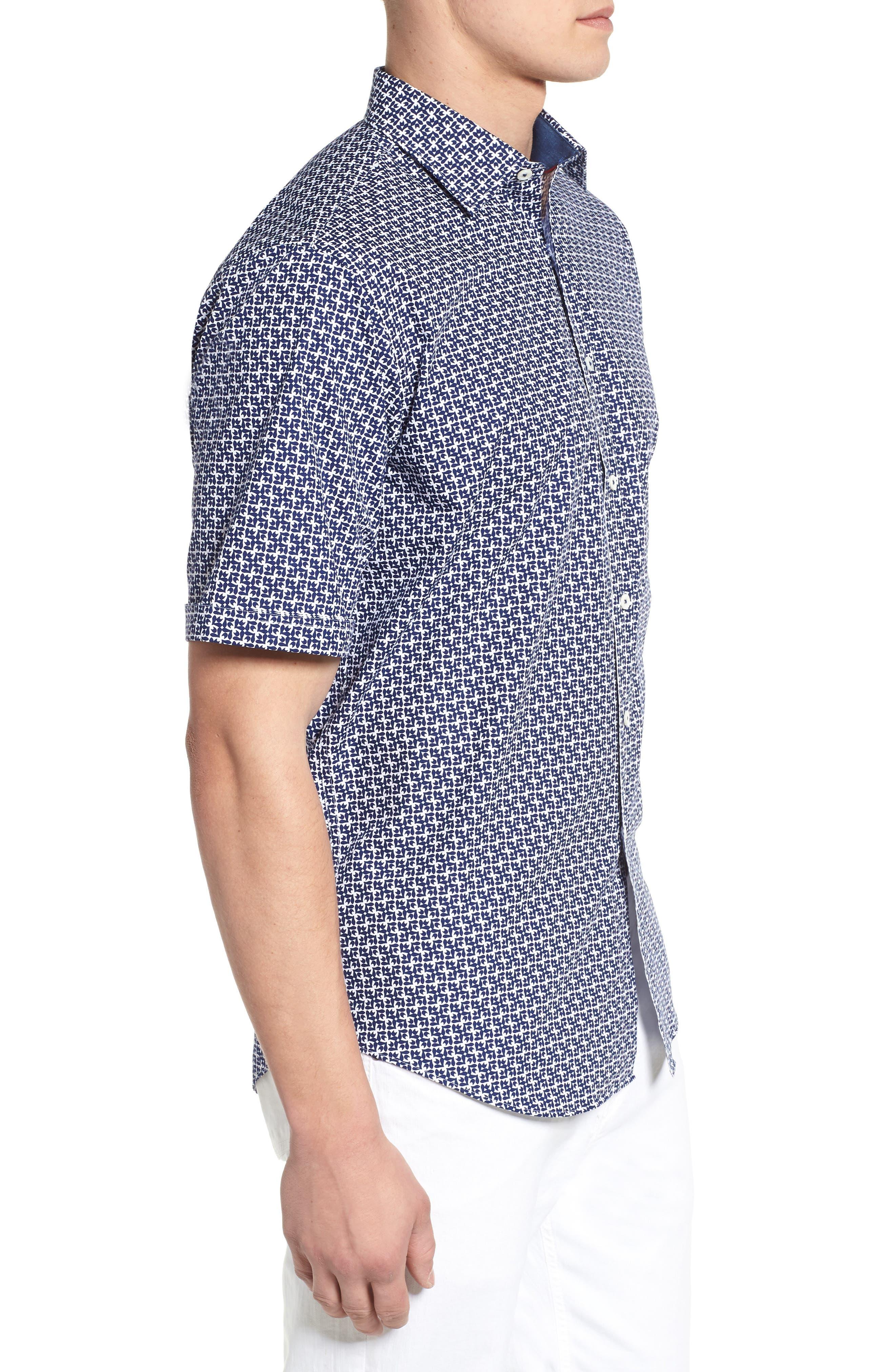 Classic Fit Woven Sport Shirt,                             Alternate thumbnail 3, color,                             411