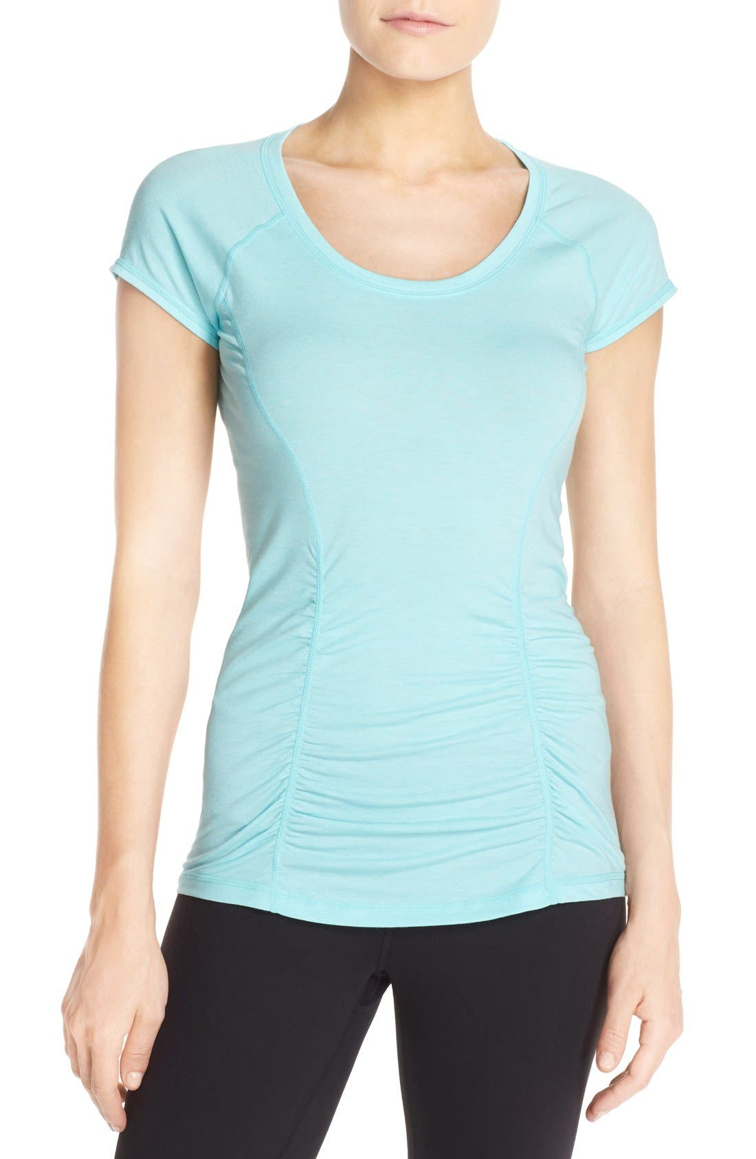 'Z 6' Ruched Tee,                             Main thumbnail 6, color,