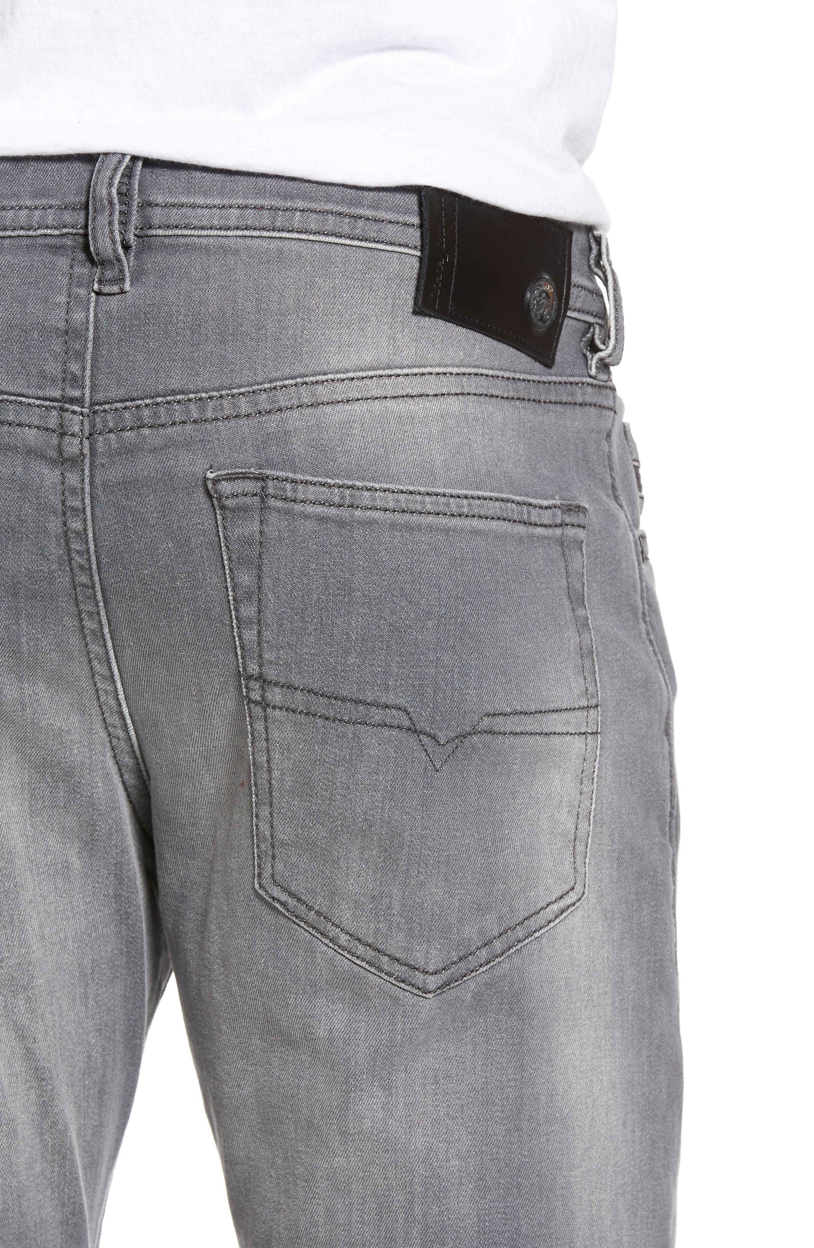 Buster Slim Straight Leg Jeans,                             Alternate thumbnail 4, color,                             020