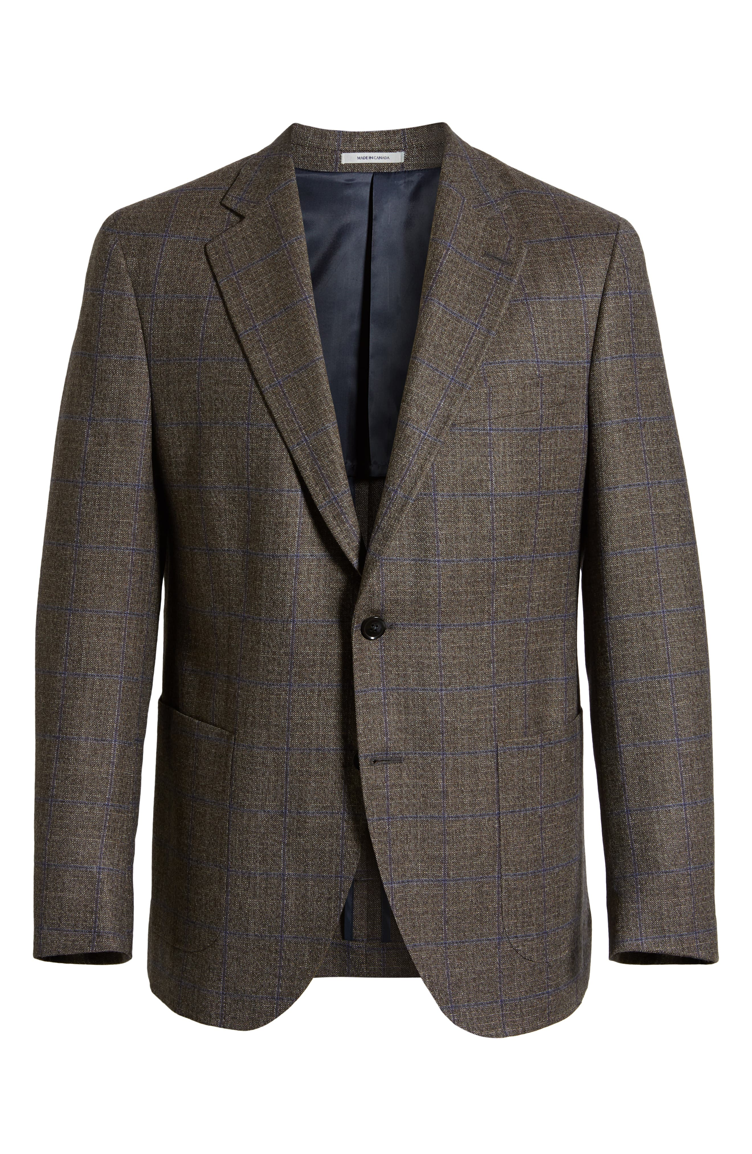 Hyperlight Classic Fit Wool Sport Coat,                             Alternate thumbnail 5, color,                             BROWN