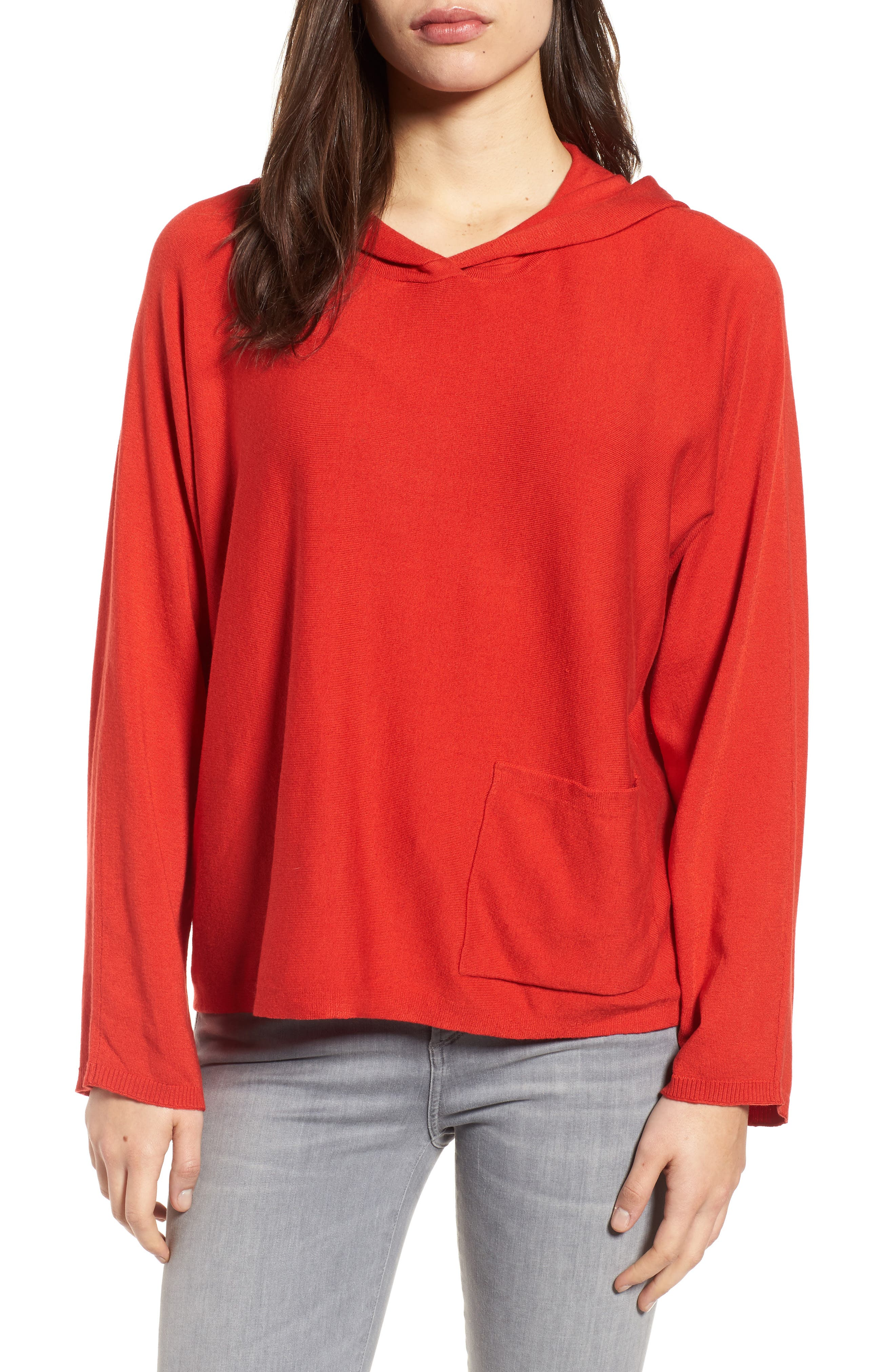 Tencel<sup>®</sup> Blend Hoodie,                             Main thumbnail 2, color,