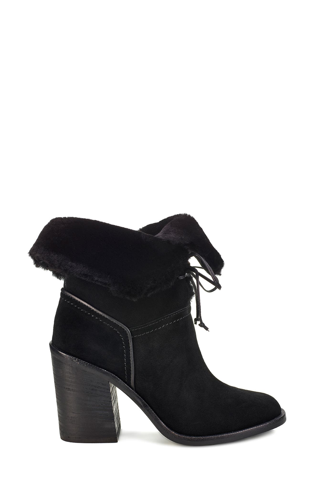 Jerene Genuine Shearling Boot,                             Alternate thumbnail 2, color,                             BLACK