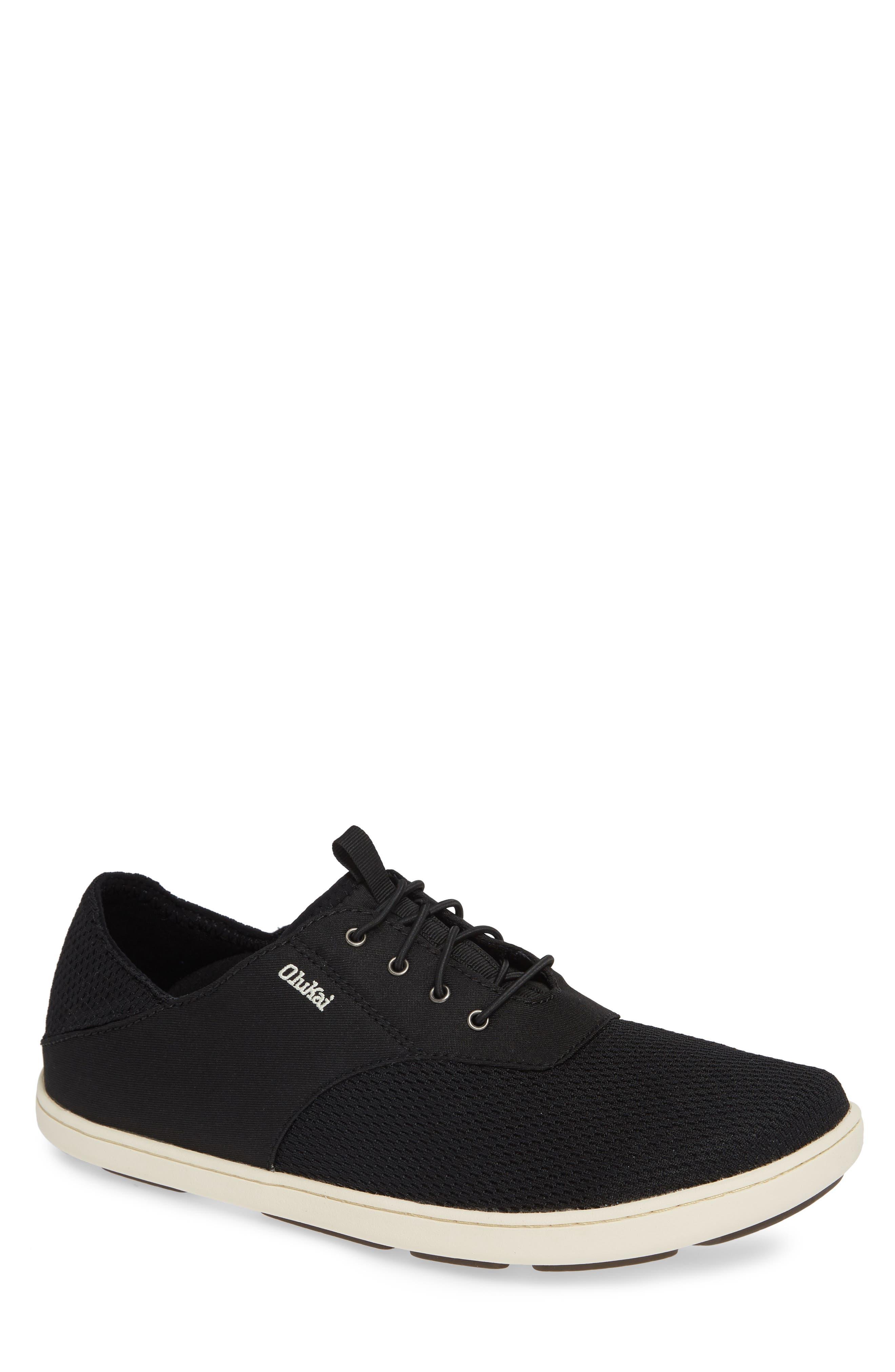 Nohea Moku Sneaker,                         Main,                         color, ONYX/ ONYX TEXTILE