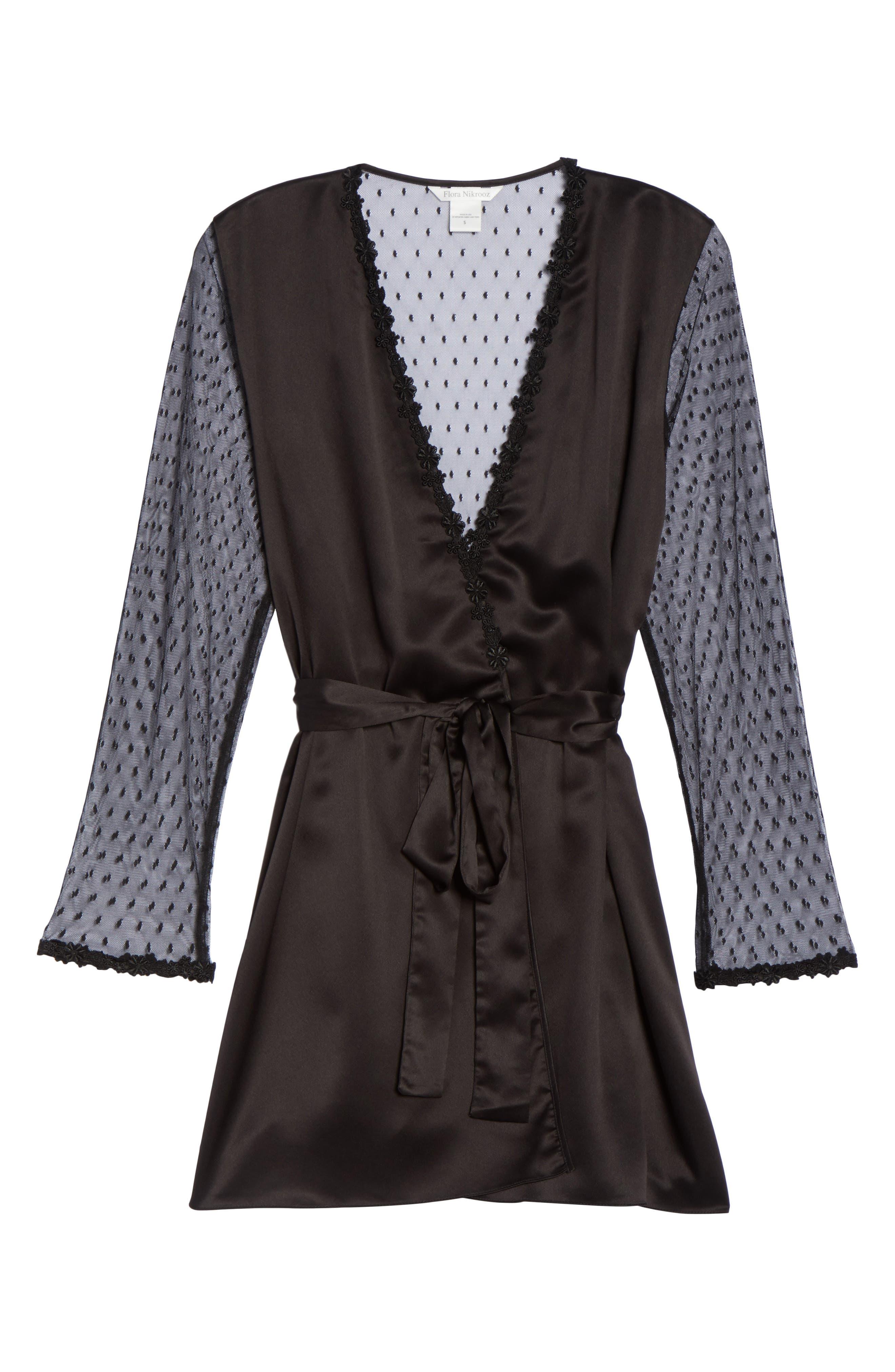 Showstopper Robe,                             Alternate thumbnail 7, color,                             BLACK