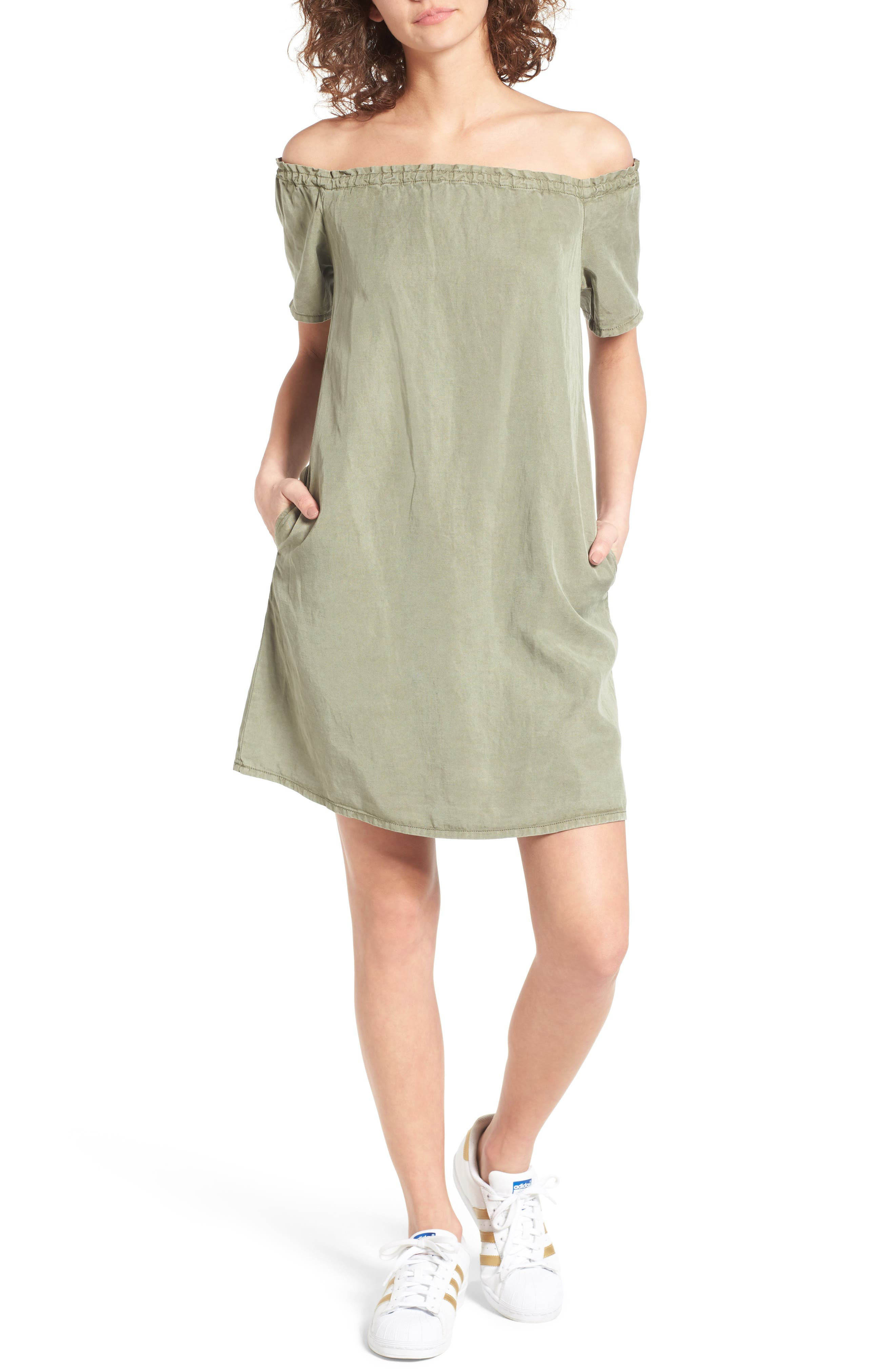 The Harley Off the Shoulder Dress,                             Main thumbnail 1, color,                             319