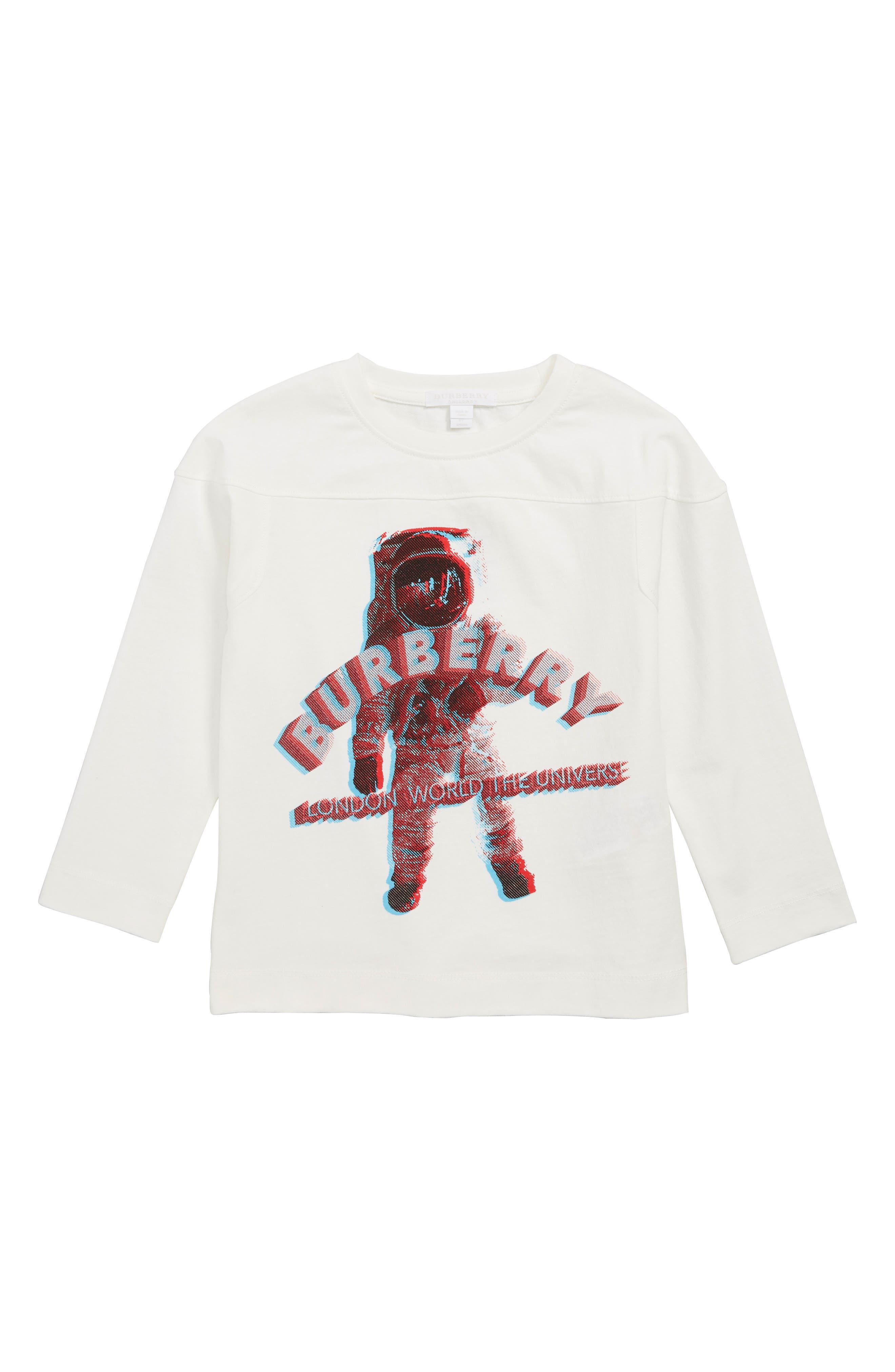 BURBERRY,                             3D Spaceman Graphic T-Shirt,                             Main thumbnail 1, color,                             100