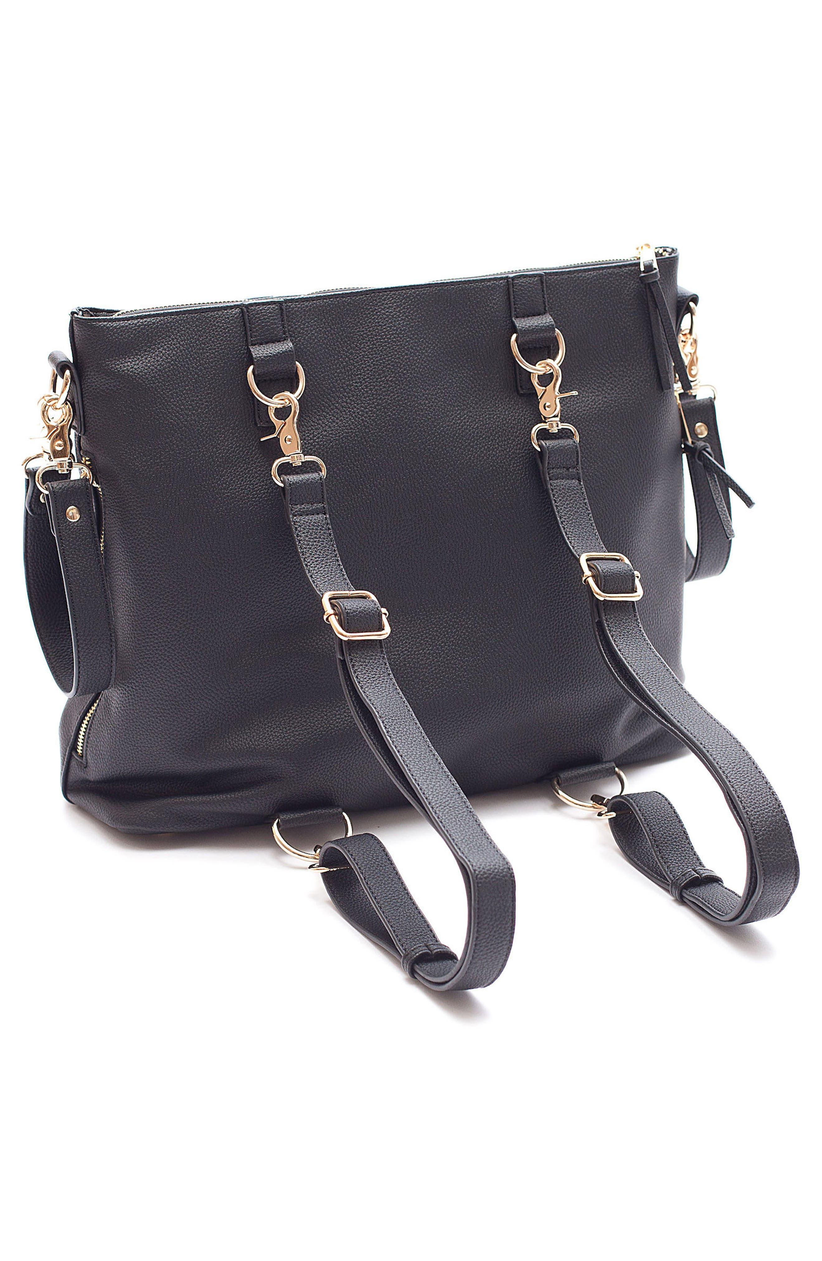 Boss Convertible Diaper Backpack,                             Alternate thumbnail 2, color,                             BLACK