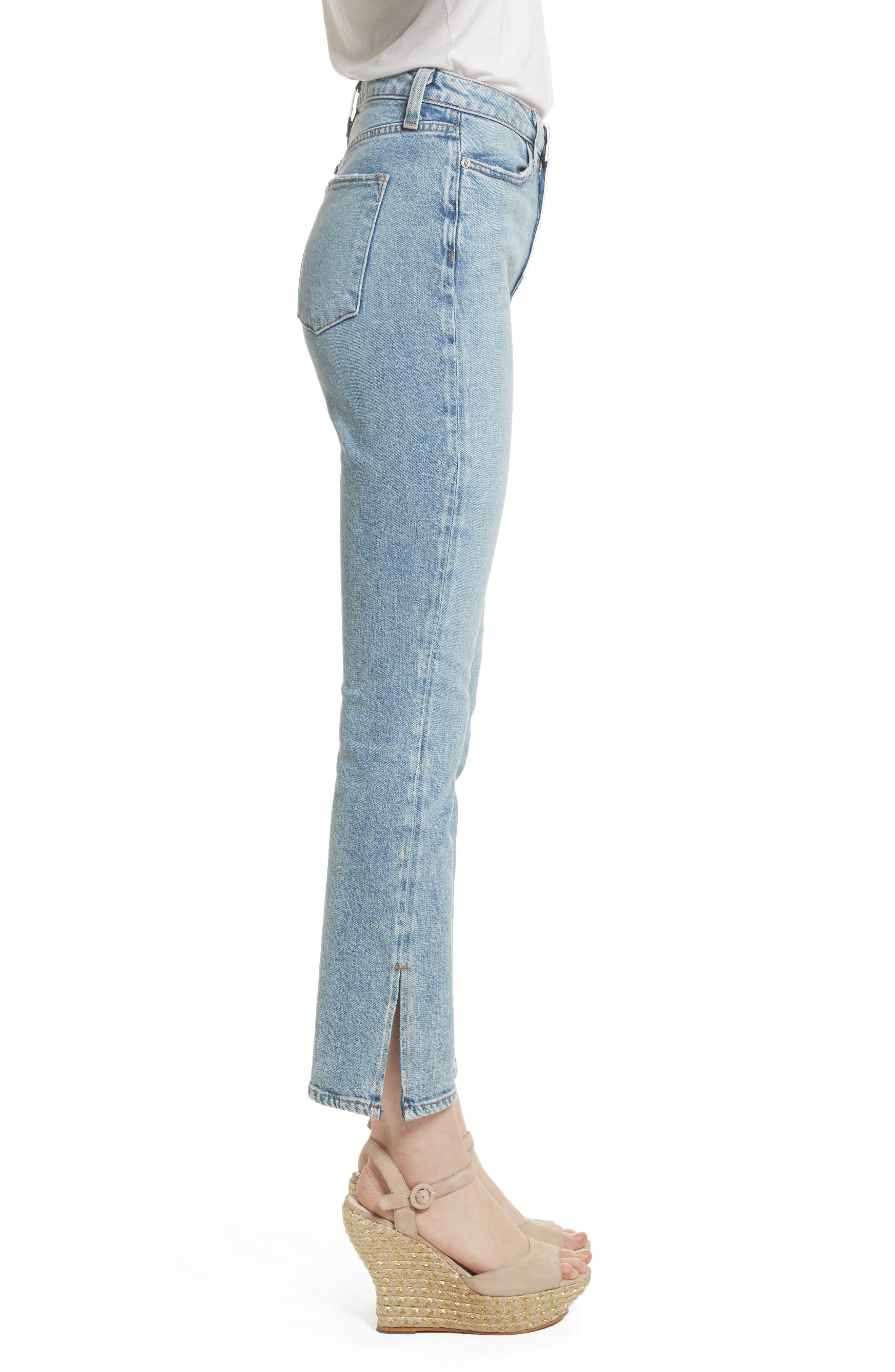 AO.LA Fabulous High Waist Baby Bootcut Jeans,                             Alternate thumbnail 3, color,