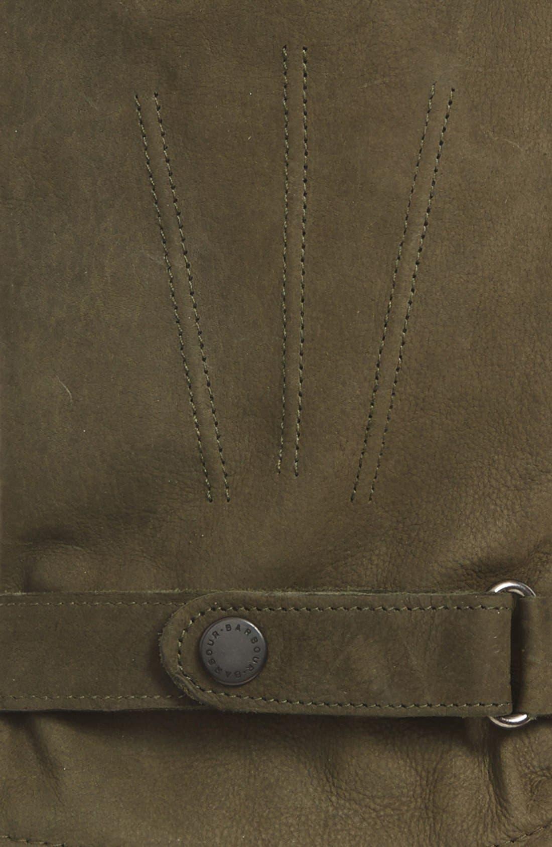 Leather Gloves,                             Alternate thumbnail 2, color,                             OLIVE