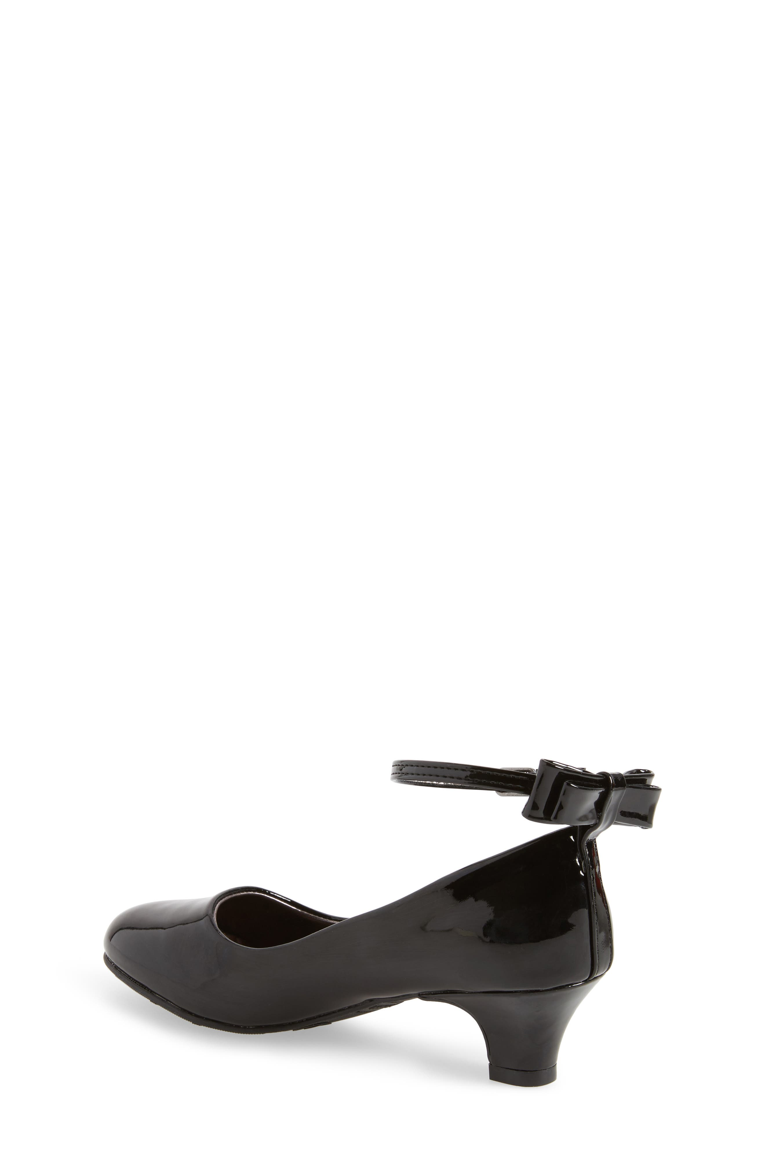 Jbeckyy Ankle Strap Bow Pump,                             Alternate thumbnail 2, color,                             017