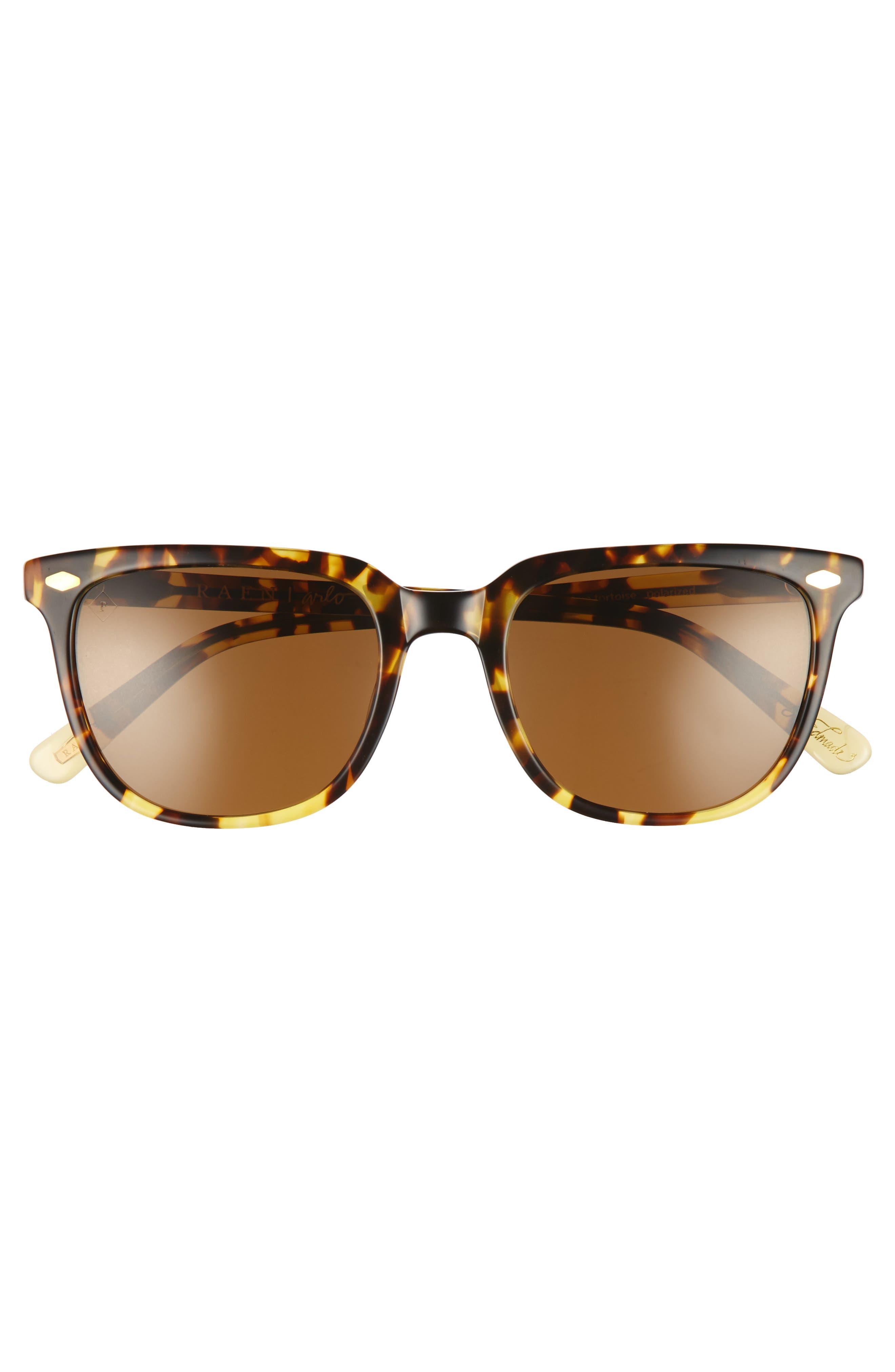 Arlo 53mm Polarized Sunglasses,                             Alternate thumbnail 2, color,                             TOKYO TORTOISE/ BROWN