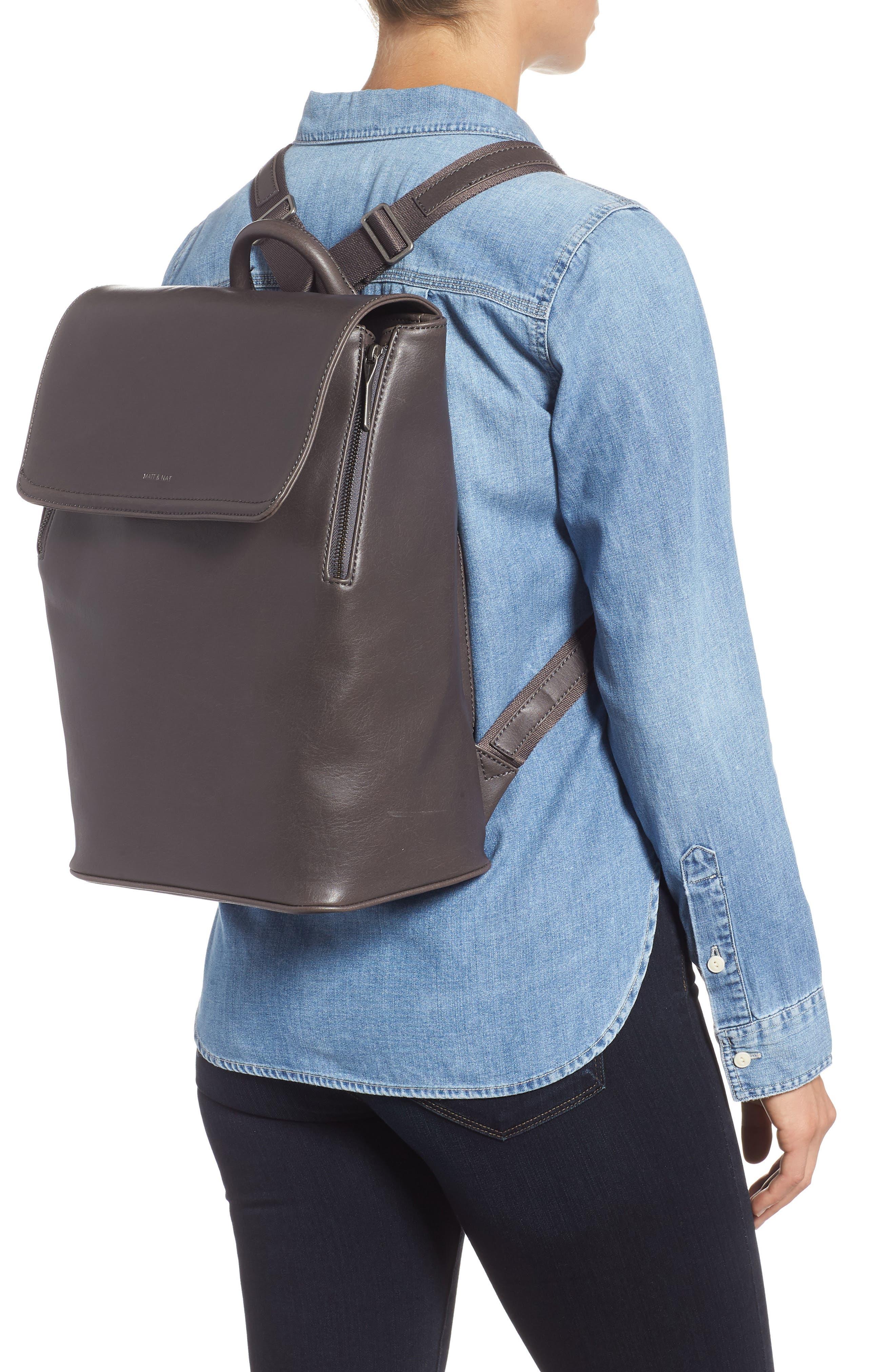 MATT & NAT,                             'Fabi' Faux Leather Laptop Backpack,                             Alternate thumbnail 2, color,                             NO_COLOR