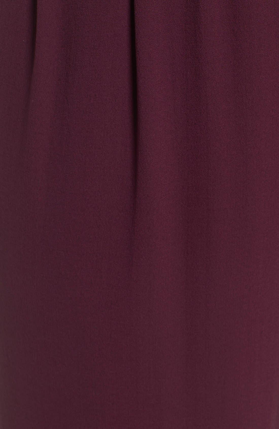 Silk Georgette Crepe Straight Ankle Pants,                             Alternate thumbnail 30, color,