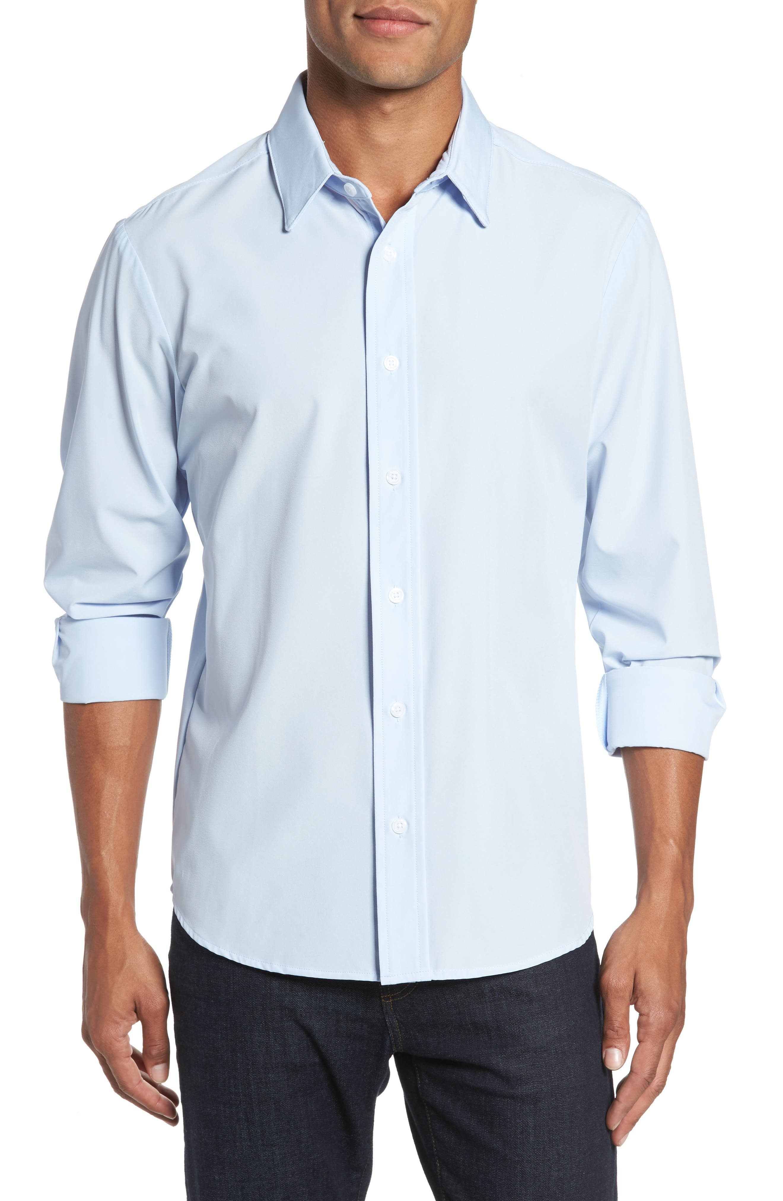 Blue Label Nelson Slim Fit Sport Shirt,                         Main,                         color, 400