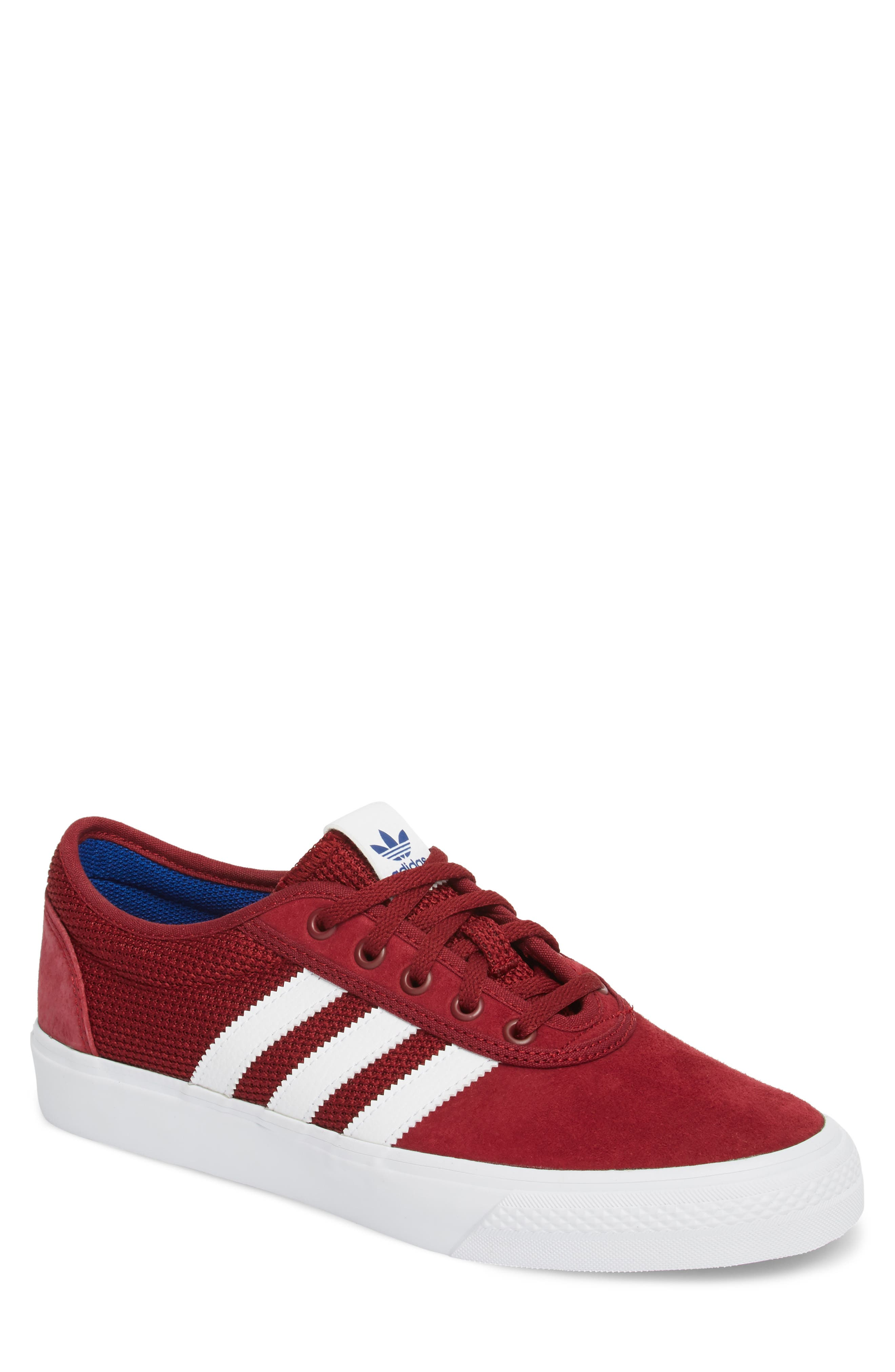 adi-Ease Sneaker,                         Main,                         color, BURGUNDY/ WHITE / ROYAL