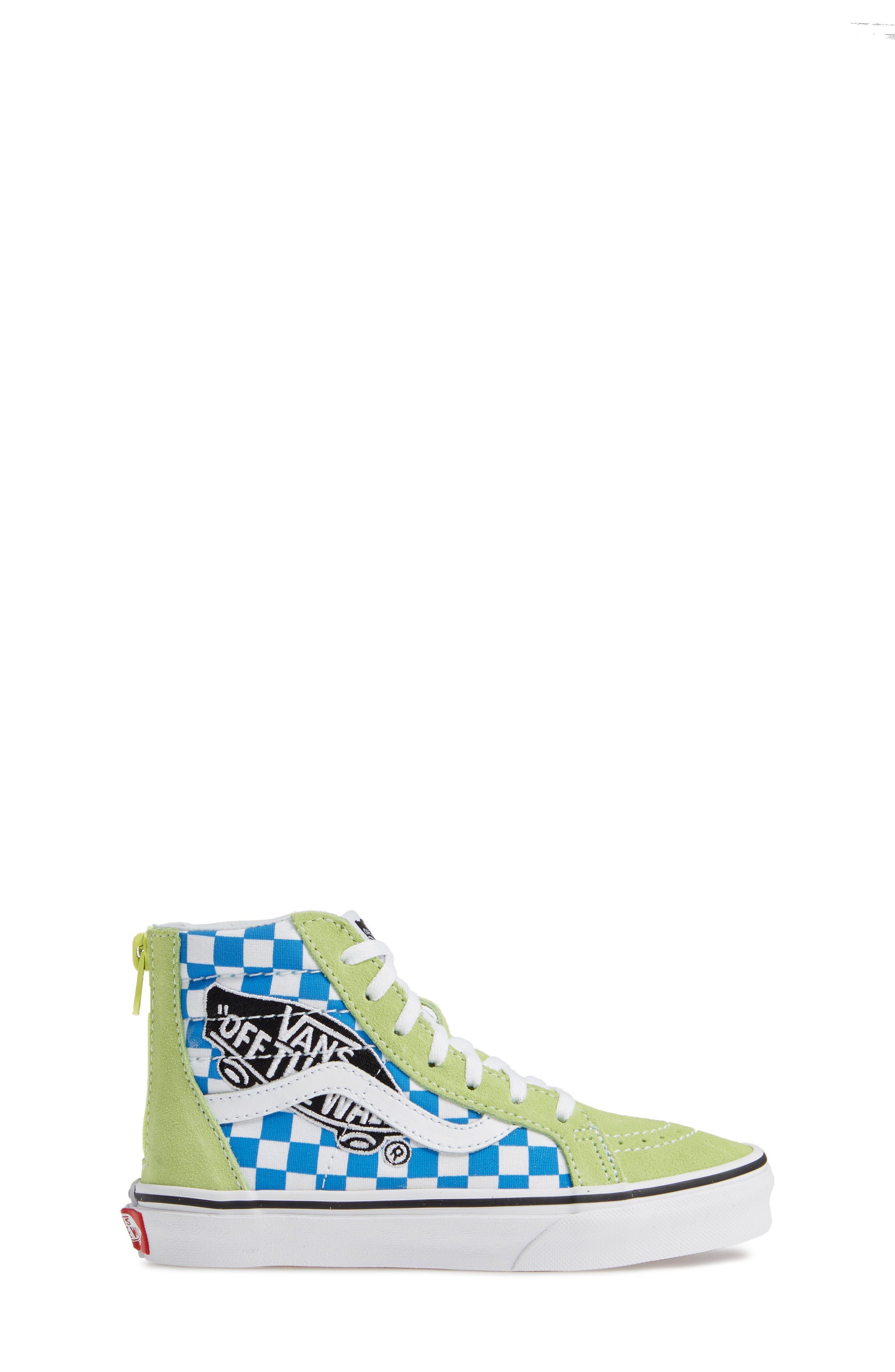 'Sk8-Hi' Sneaker,                             Alternate thumbnail 3, color,                             SHARP GREEN/ PINK LEMONADE