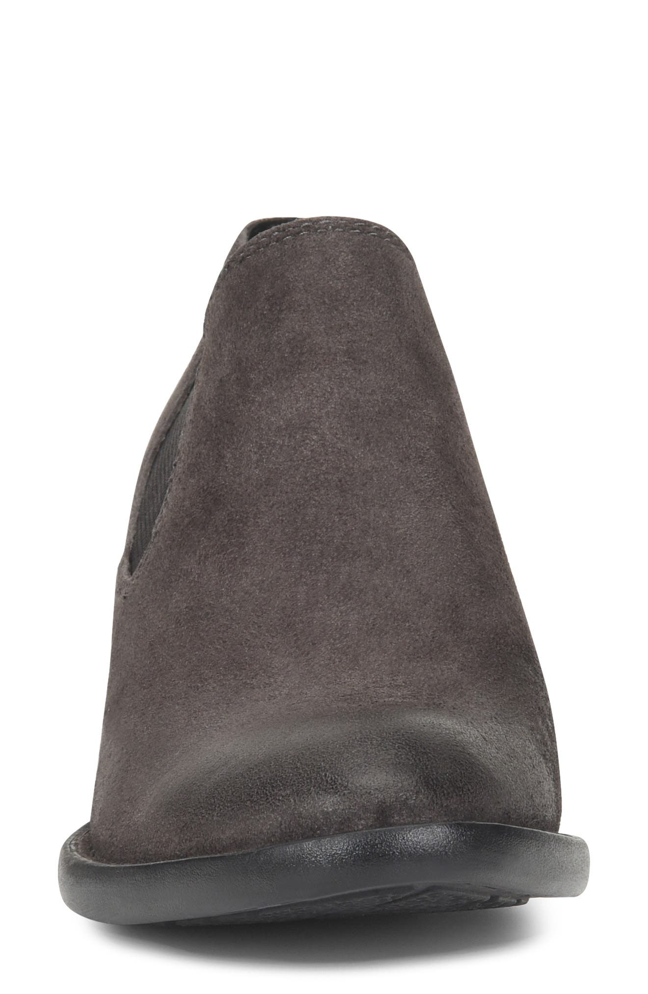 Dallia Bootie,                             Alternate thumbnail 4, color,                             DARK GREY DISTRESSED LEATHER