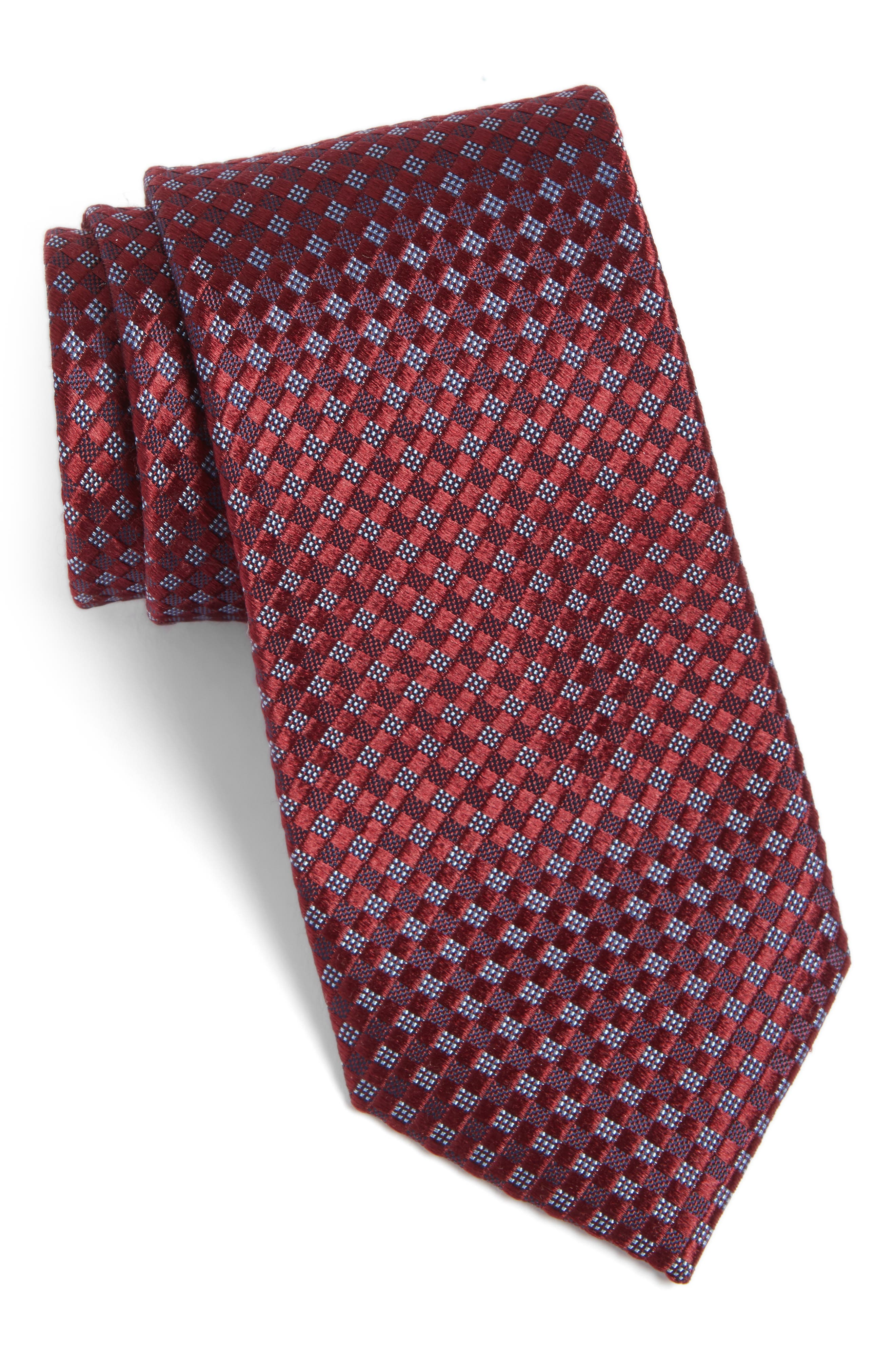 Artesia Check Silk Tie,                             Main thumbnail 9, color,