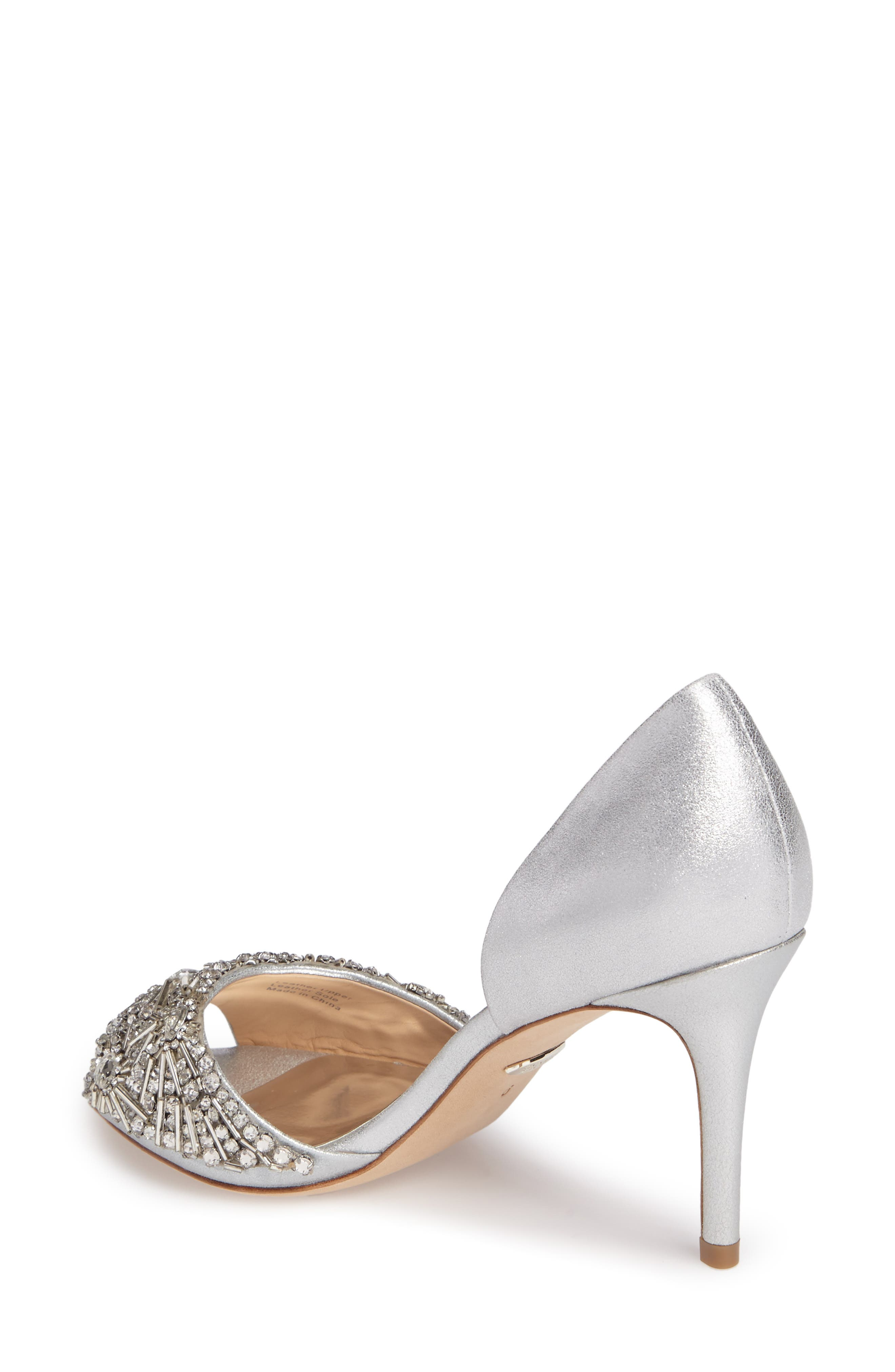 Maria Embellished d'Orsay Pump,                             Alternate thumbnail 8, color,
