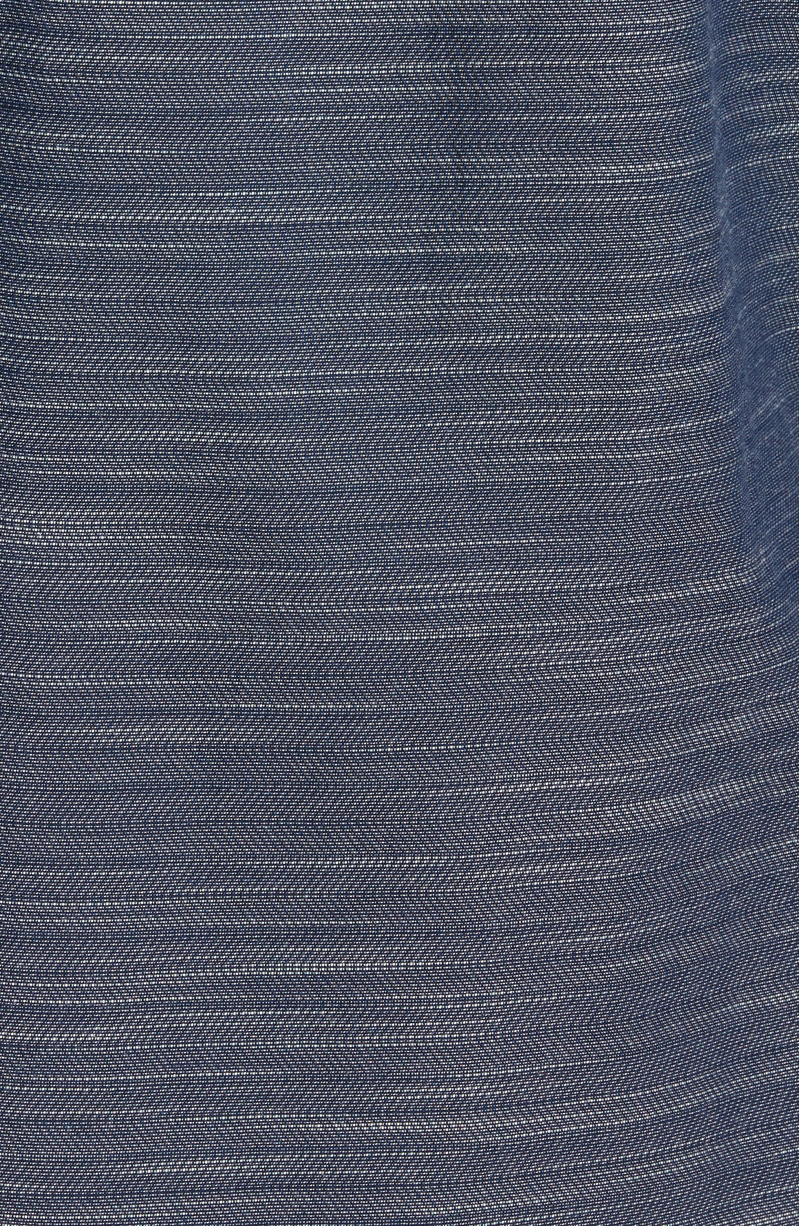 Herringbone Chambray Shirt,                             Alternate thumbnail 5, color,