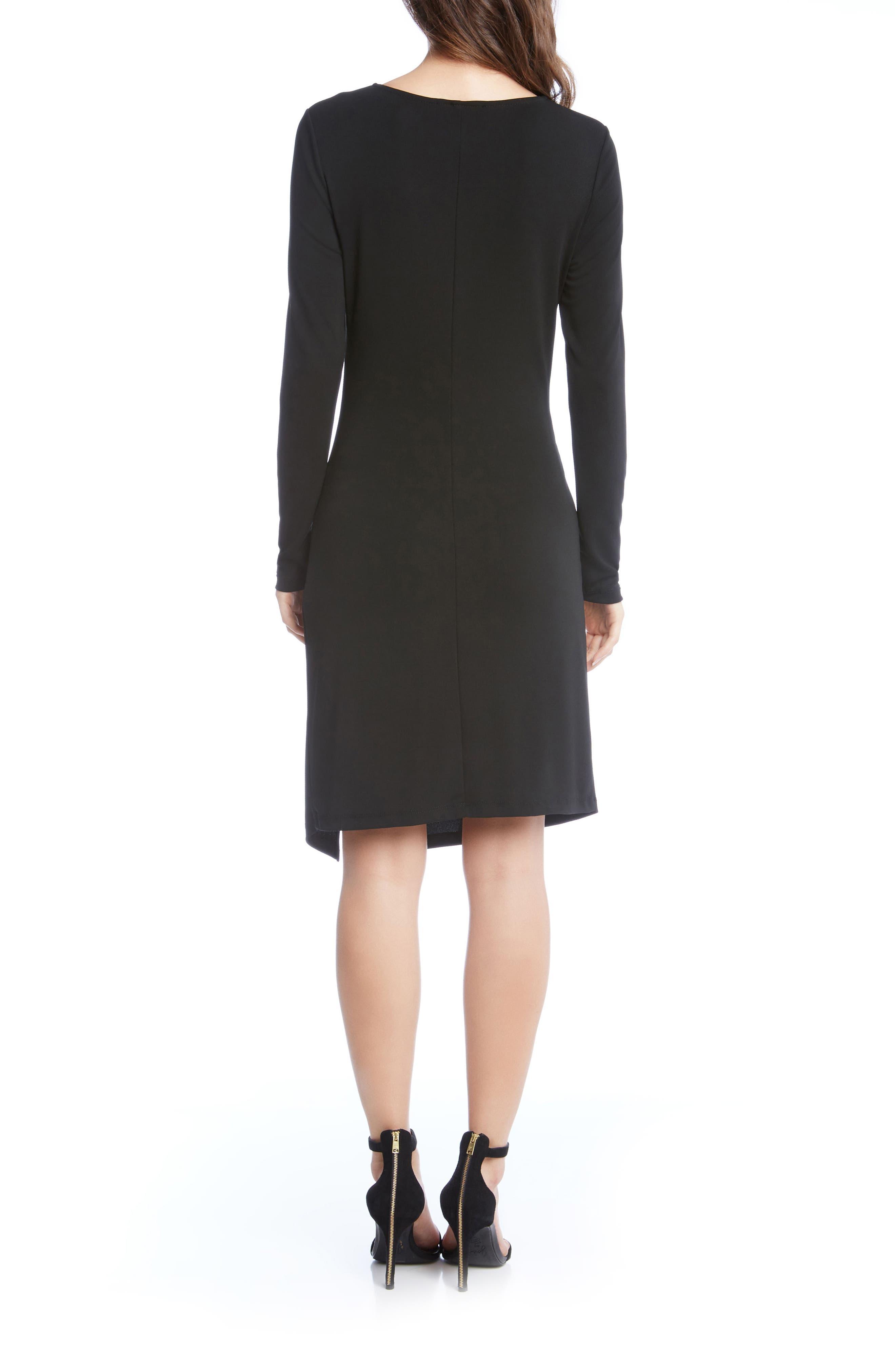 Isabella Side Twist Dress,                             Alternate thumbnail 2, color,                             001