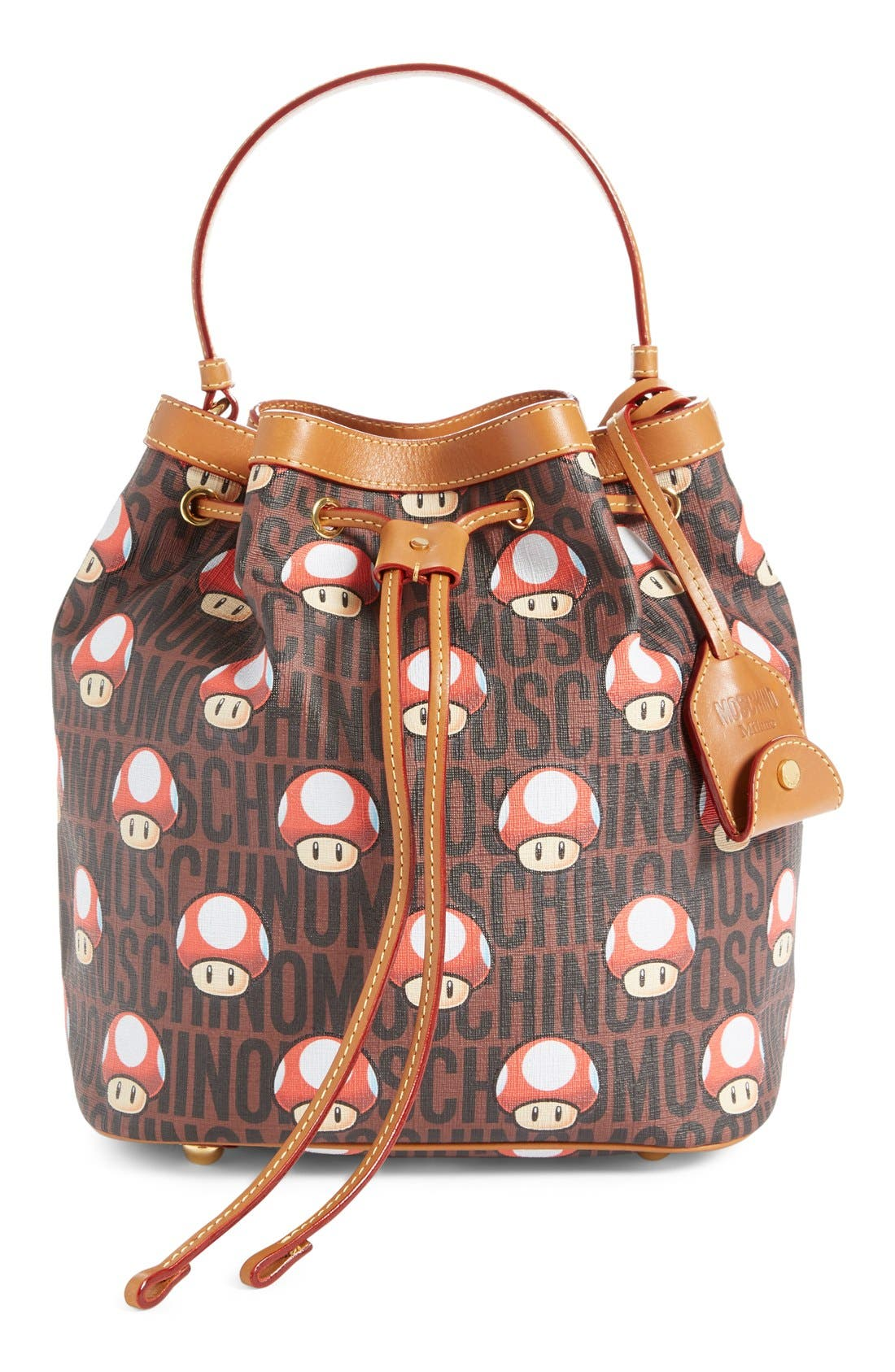 MOSCHINO 'Nintendo Super Mario Bros.<sup>®</sup>' Bucket Bag, Main, color, 200