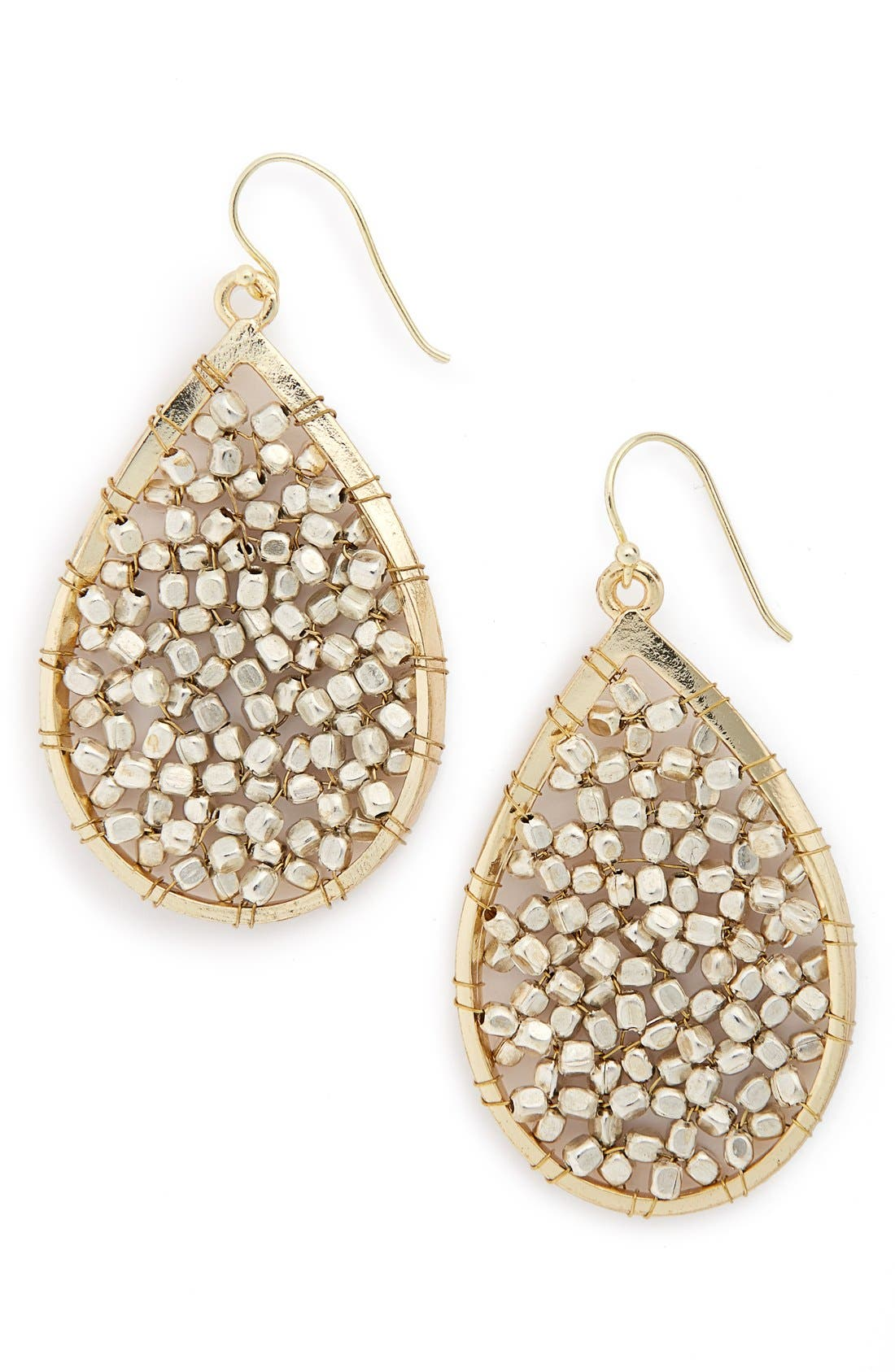 Beaded Teardrop Earrings,                         Main,                         color,