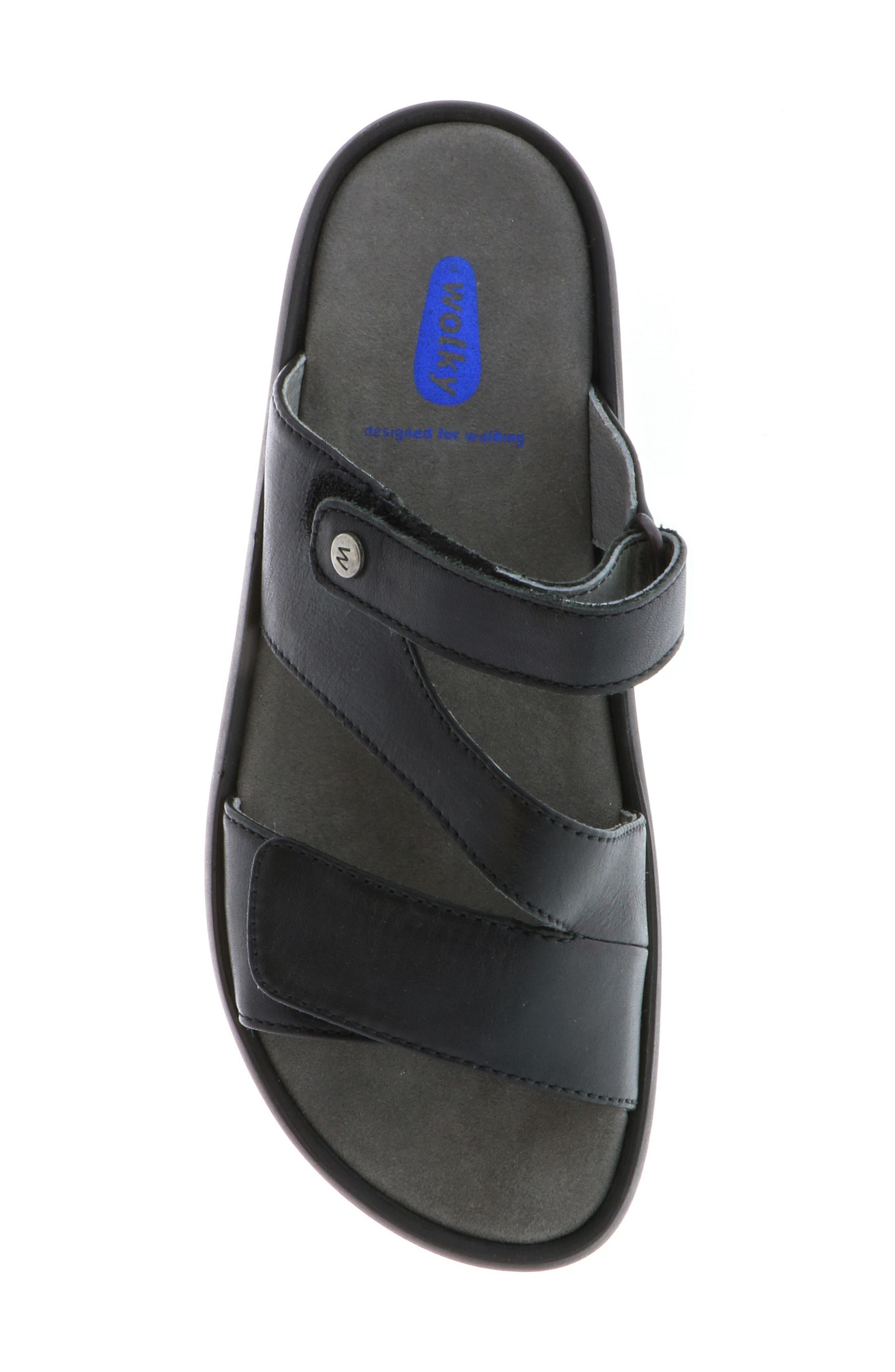 Sense Slide Sandal,                             Alternate thumbnail 5, color,                             BLACK