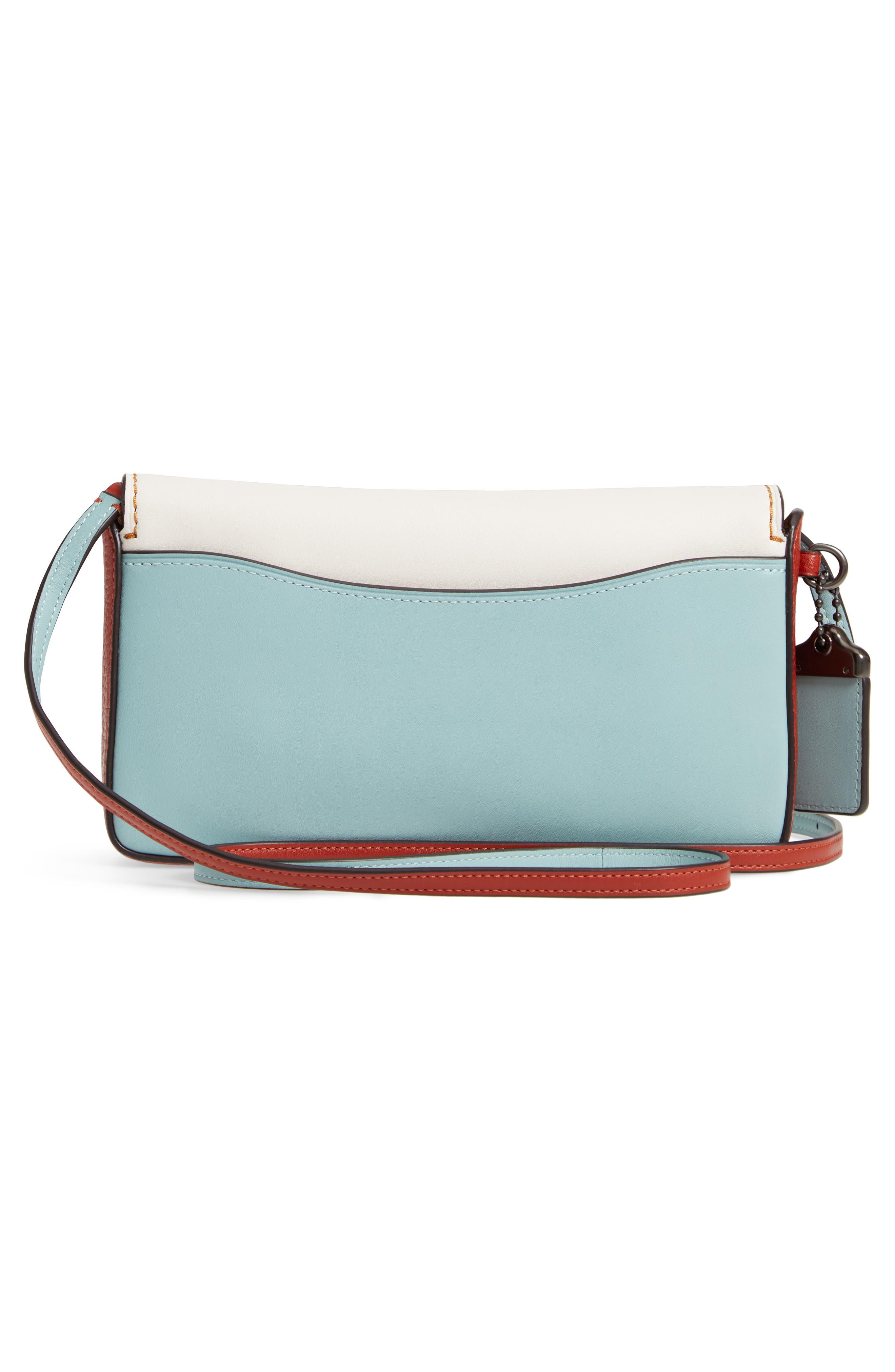 Dinky Colorblock Leather Crossbody Bag,                             Alternate thumbnail 3, color,                             CHALK MULTI