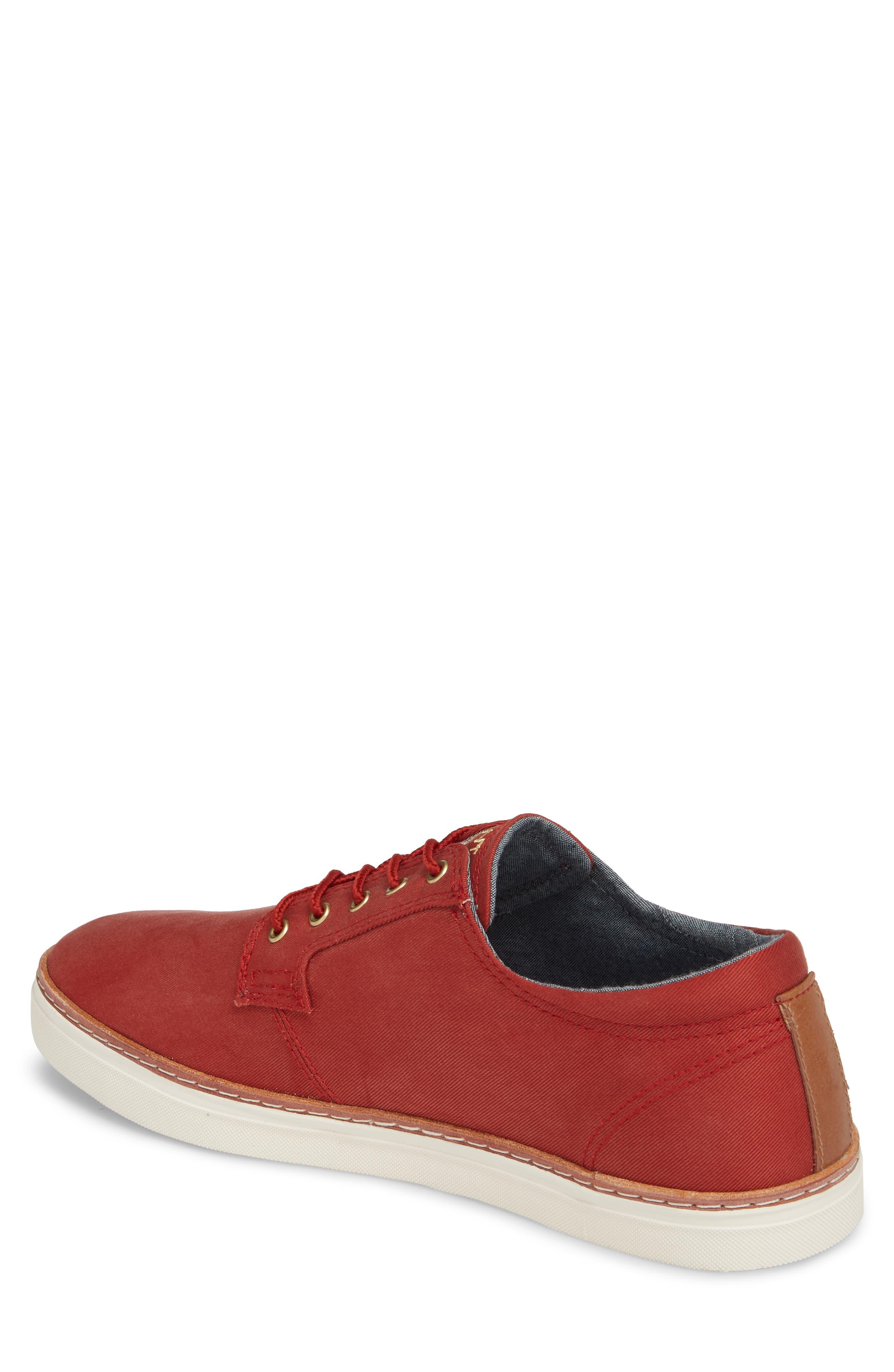 Bari Sneaker,                             Alternate thumbnail 2, color,                             RED TWILL