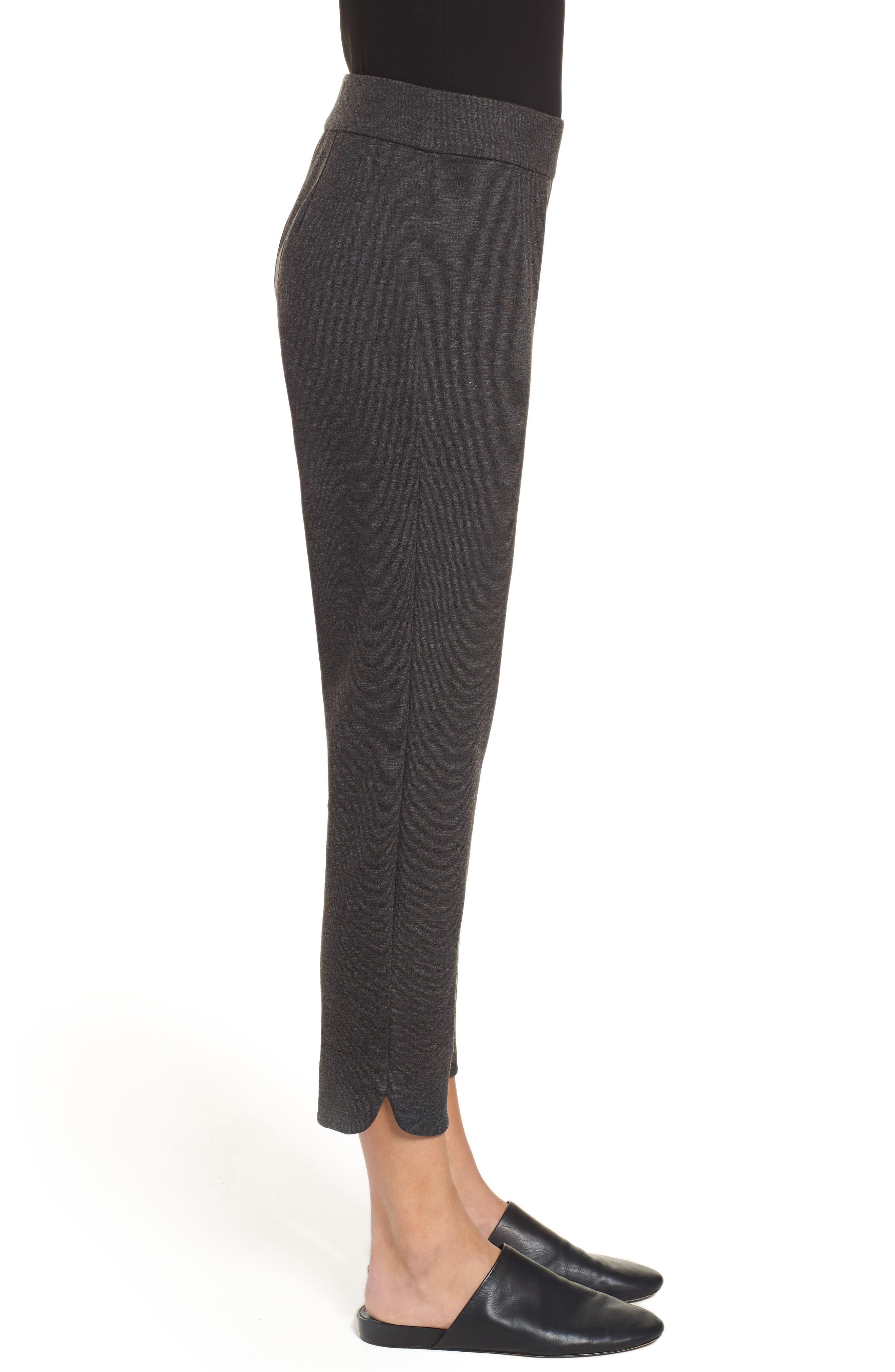 Slim Crop Pants,                             Alternate thumbnail 3, color,                             CHARCOAL