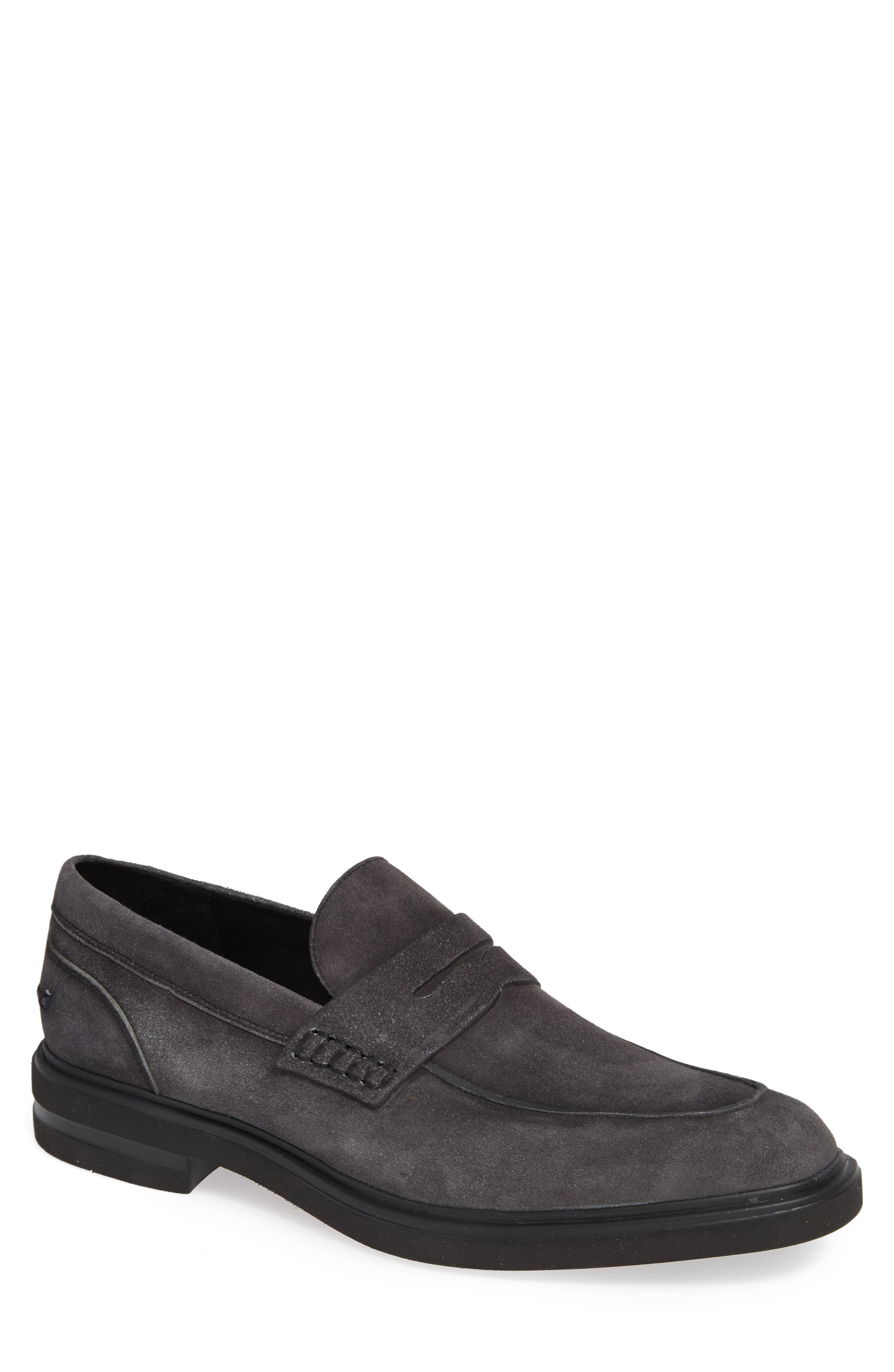 Edmund Penny Loafer,                             Main thumbnail 1, color,                             CHARCOAL