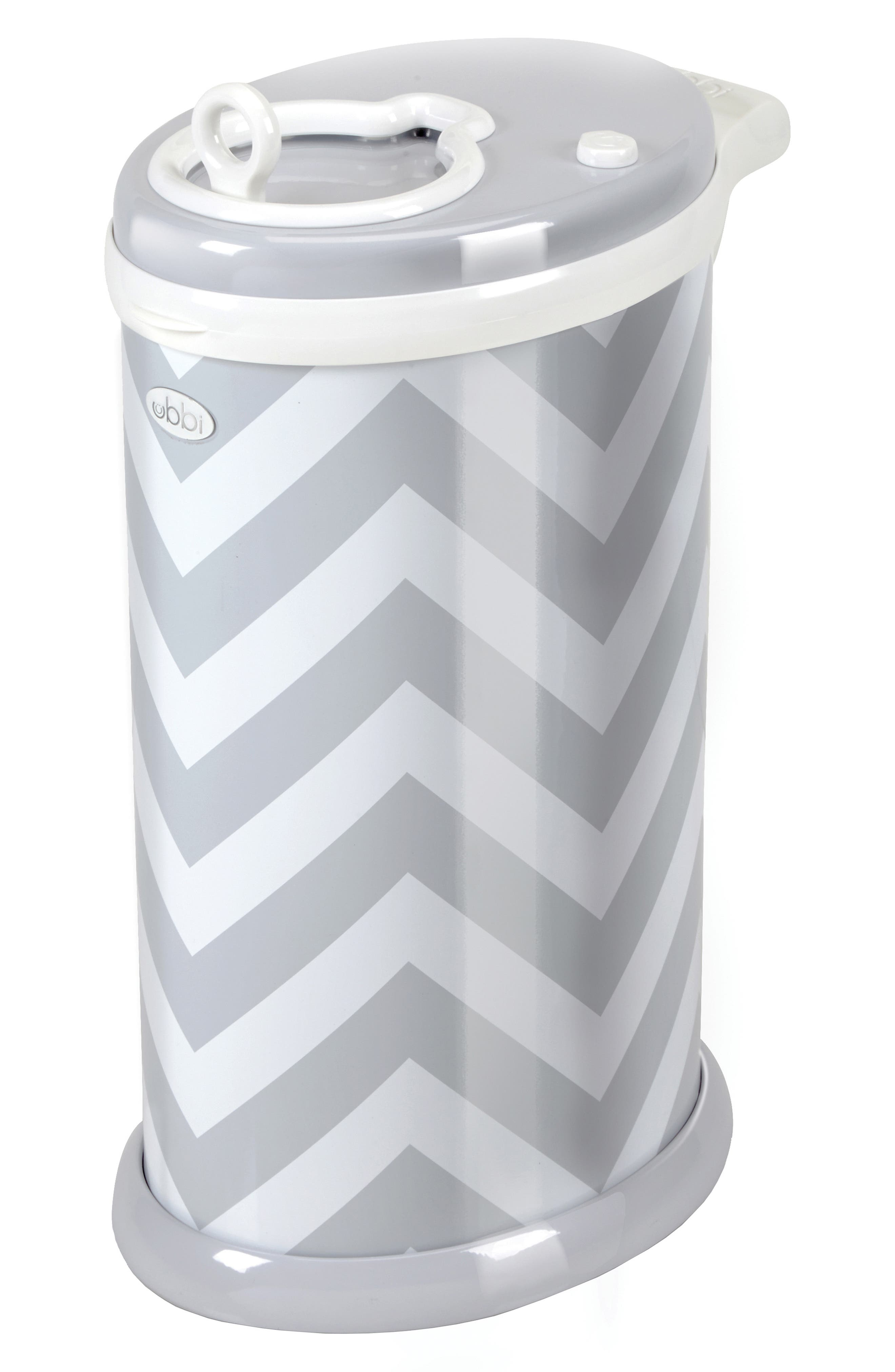 Diaper Pail,                             Alternate thumbnail 2, color,                             GRAY CHEVRON